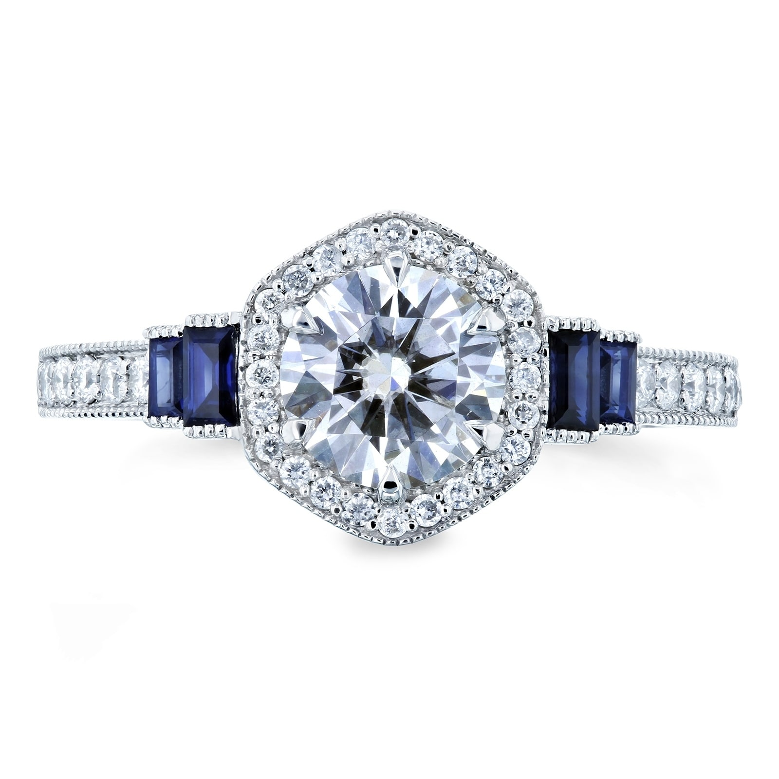 ctw bridal in diamond and cushion eg with moissanite doubleprong sapphire set rings platinum a