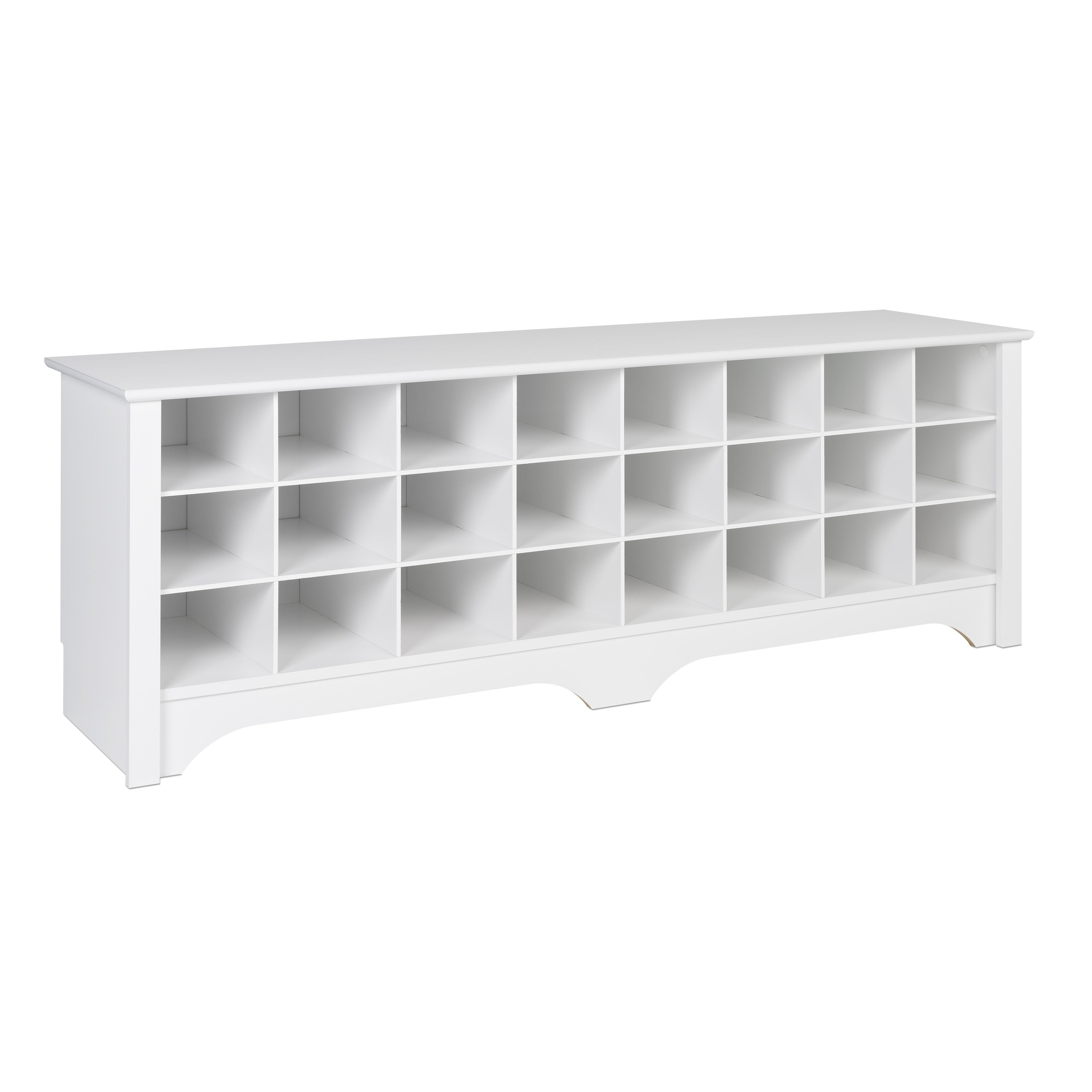 Shop Prepac 24 Pair Shoe Storage Cubby Bench, Multiple Finishes   Free  Shipping Today   Overstock.com   20926281