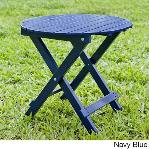 Havenside Home Solana Foldable Outdoor Acacia Wood Round Adirondack Side Table Free Shipping Today 20931450