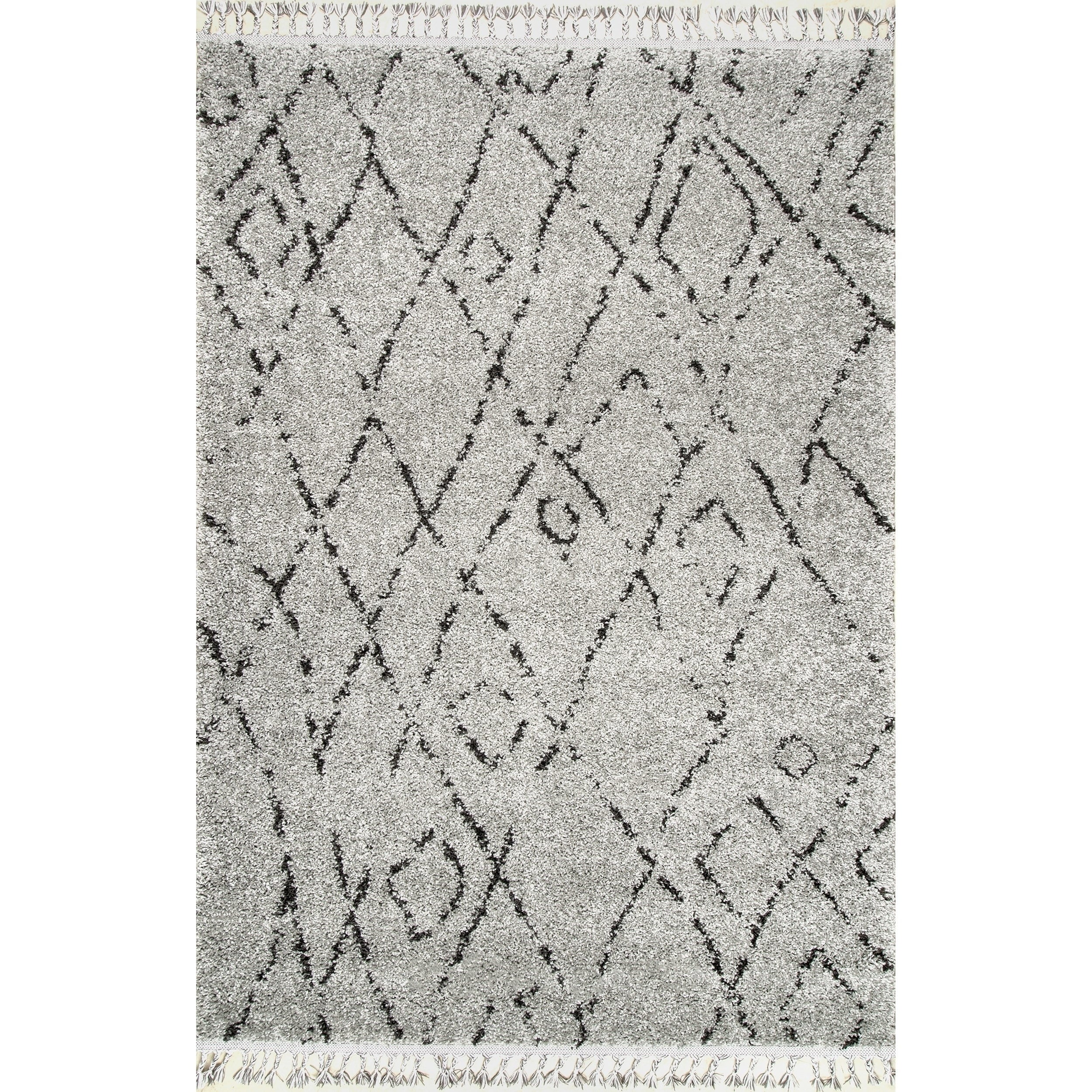 Shop carson carrington vanlose abstract moroccan diamond tassel shag rug on sale free shipping today overstock 20931630