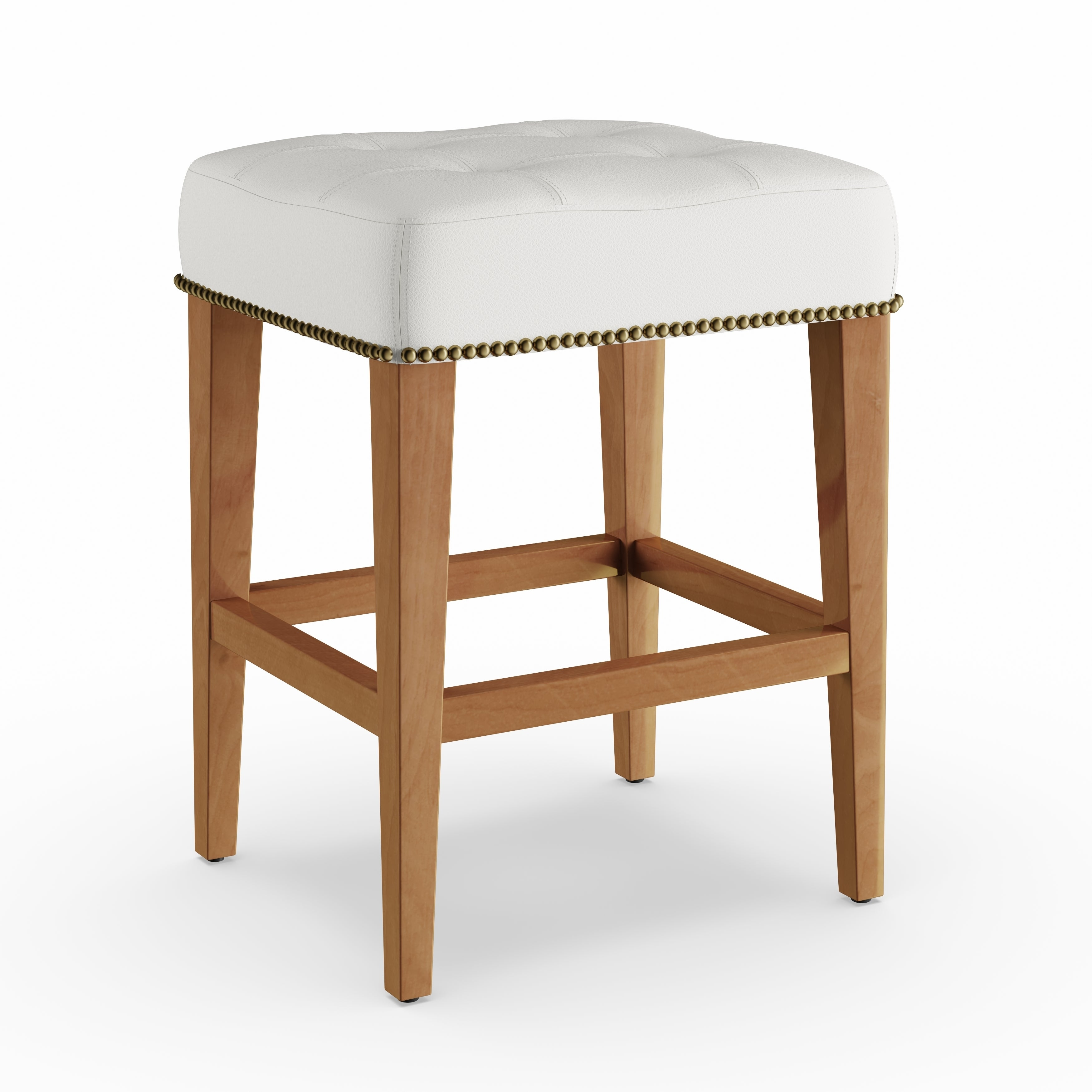 Shop Copper Grove Hibiscus 24 Inch Vintage Leather Low Counter Stool