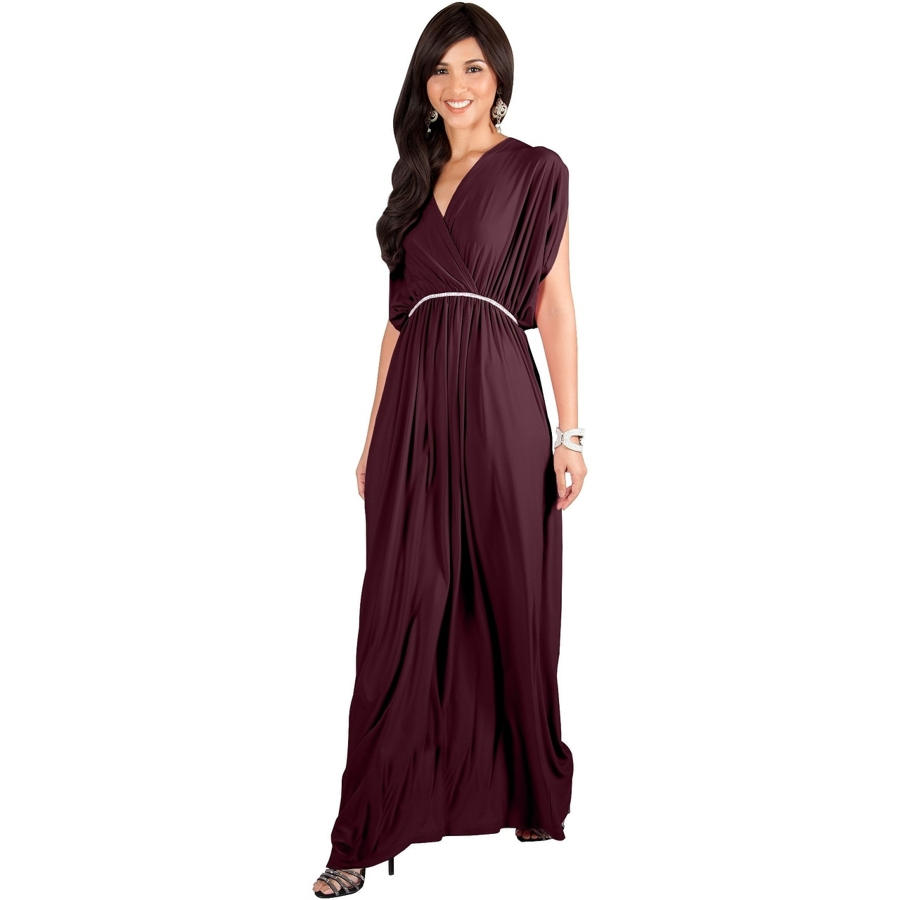 9853645adb Shop KOH KOH Womens Elegant Long V Neck Bridesmaid Flowy Maxi dresses -  Free Shipping On Orders Over  45 - Overstock - 20932581