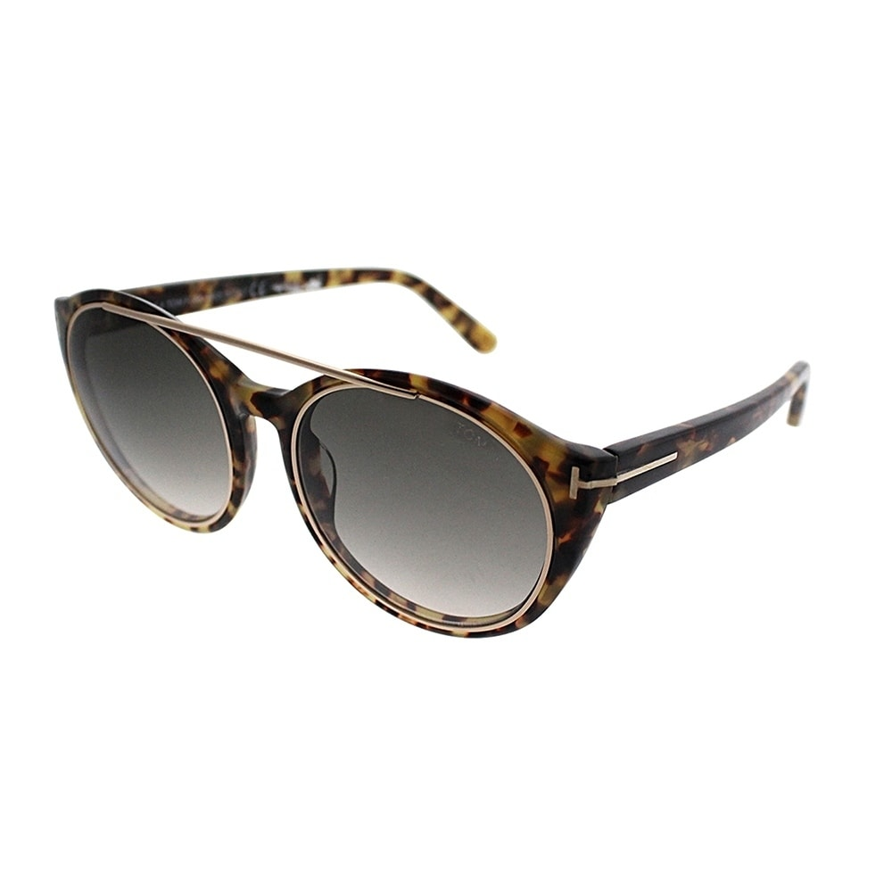 d8eef50a0080 Shop Tom Ford Round TF 383 Joan 56B Womens Tortoise Frame Grey Gradient Lens  Sunglasses - Free Shipping Today - Overstock - 20940929