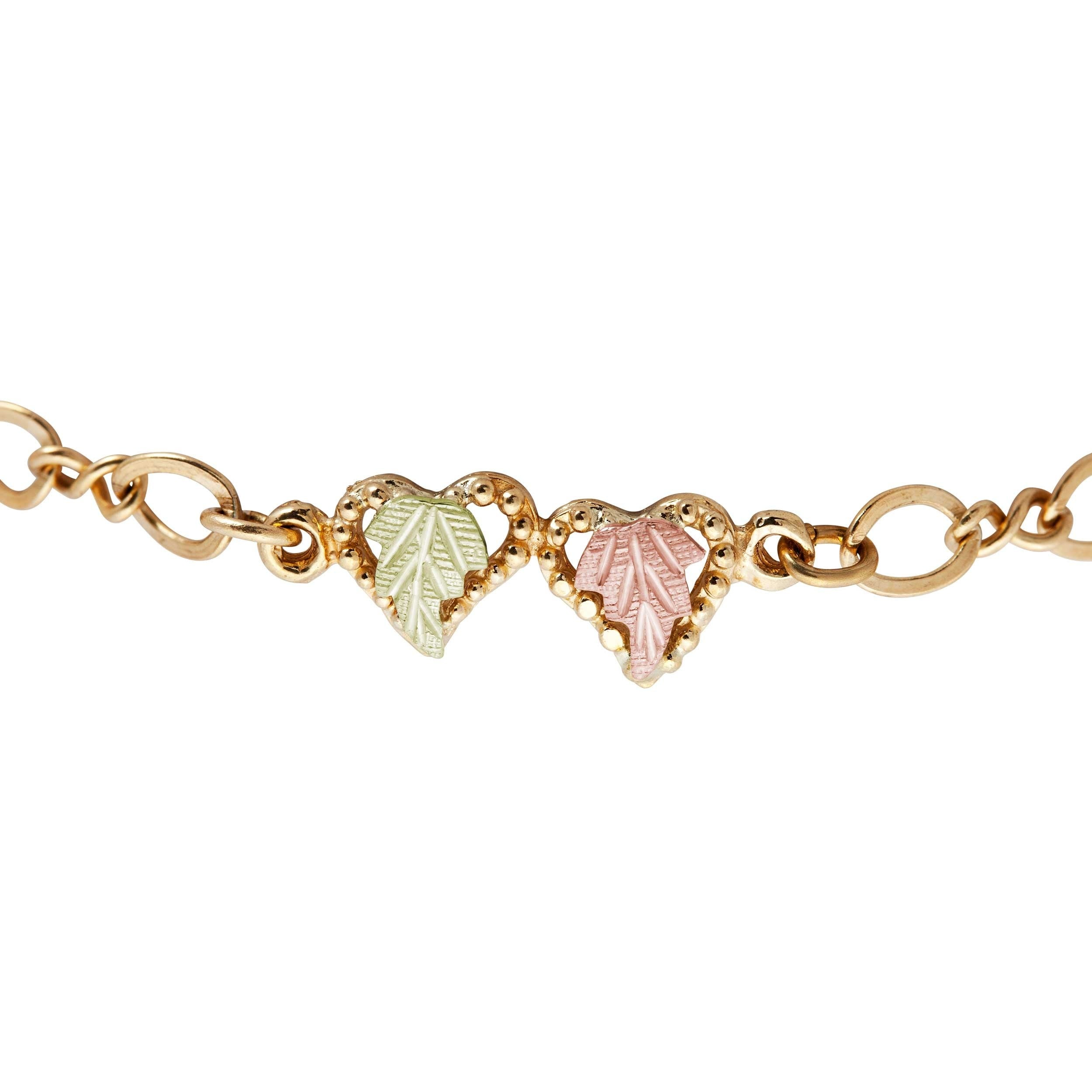 charm heart mondier jewelry with jewellery bracelet in gold yellow toggle