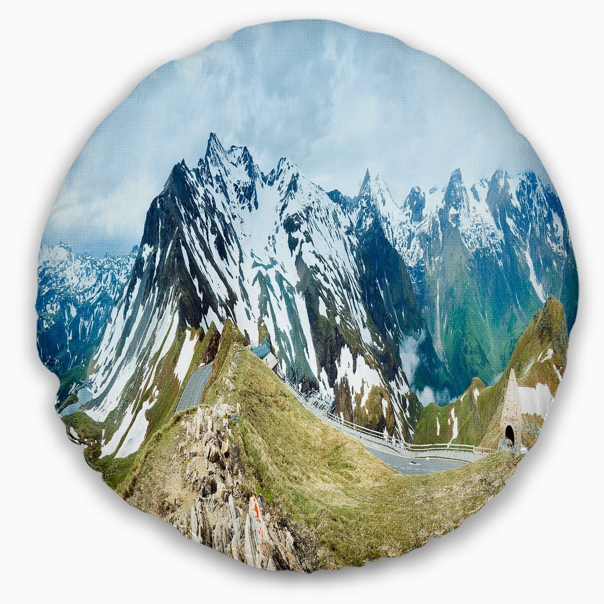 Designart Alps Summer Panorama Photography Throw Pillow On Sale Overstock 20948030