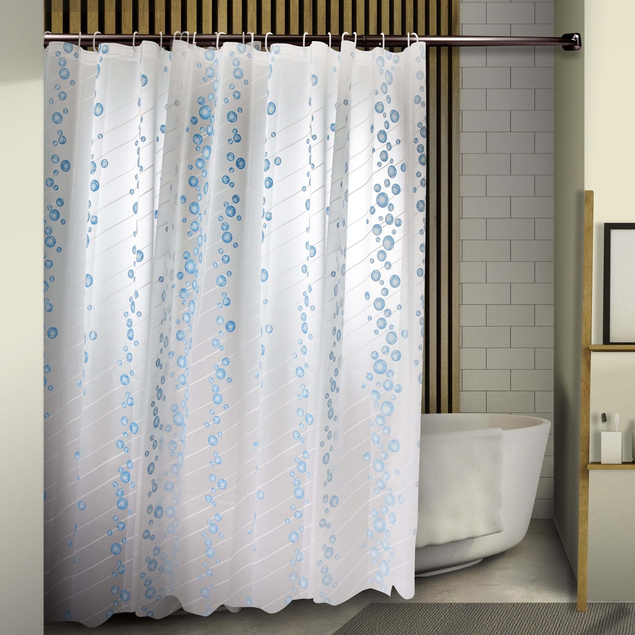 InStyleDesign Bubble Shower Curtain 71 X