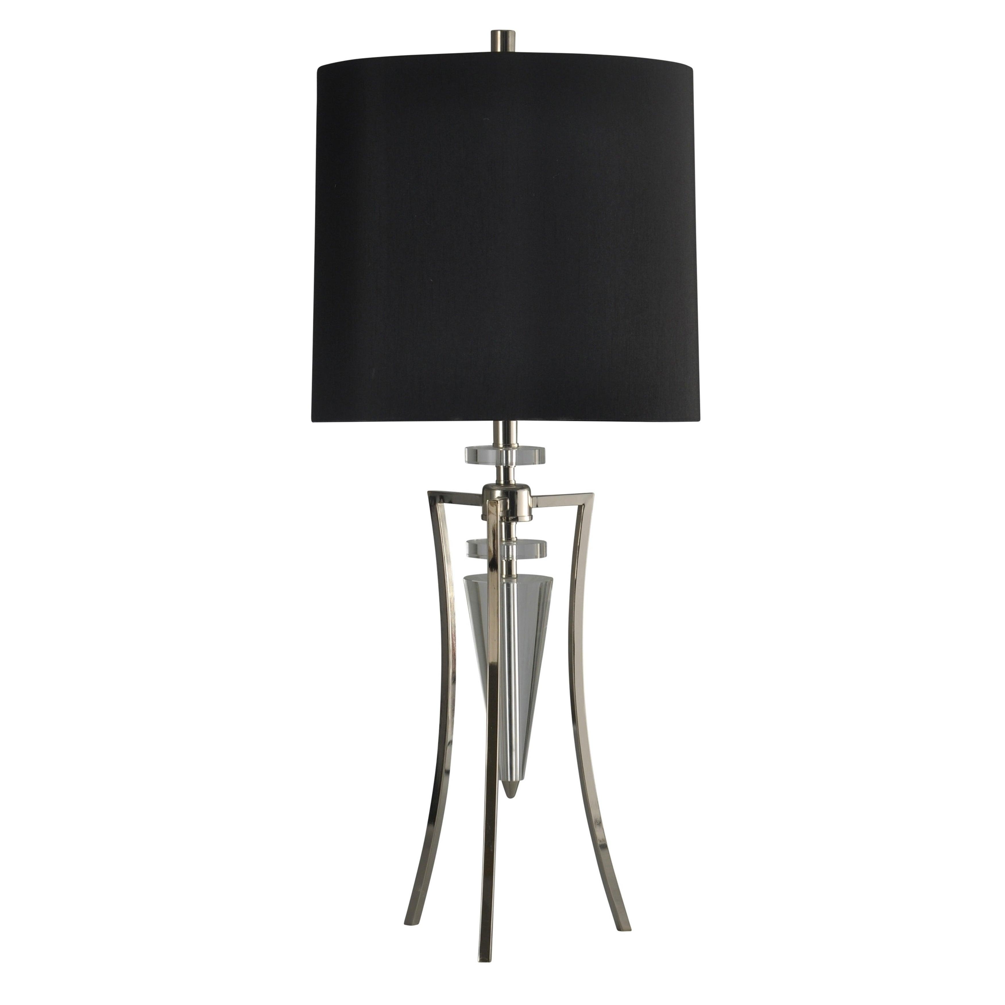 Shop Crystal Table Lamp Black Hardback Fabric Shade Free