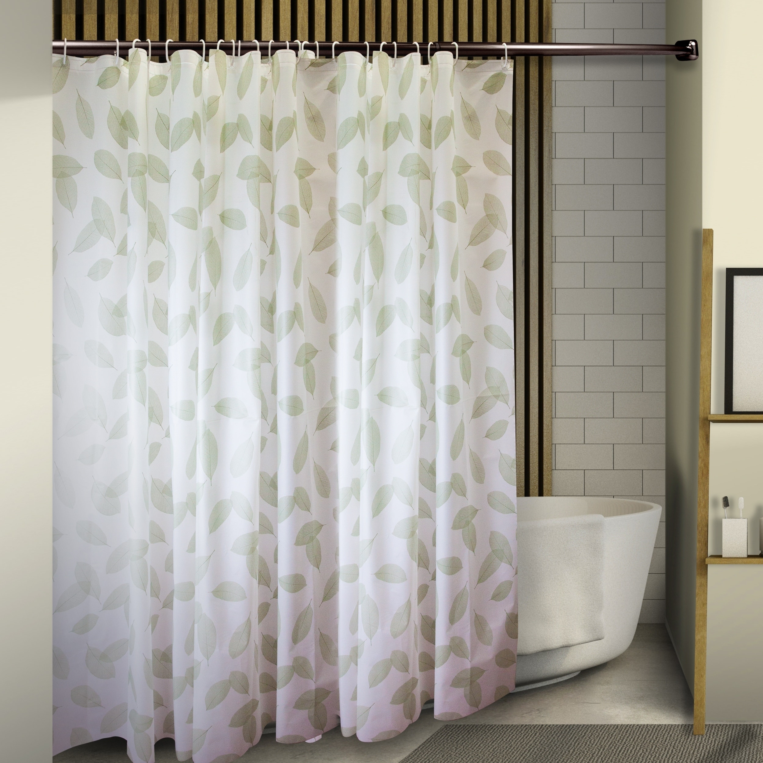 InStyleDesign Leaves Shower Curtain 71 X