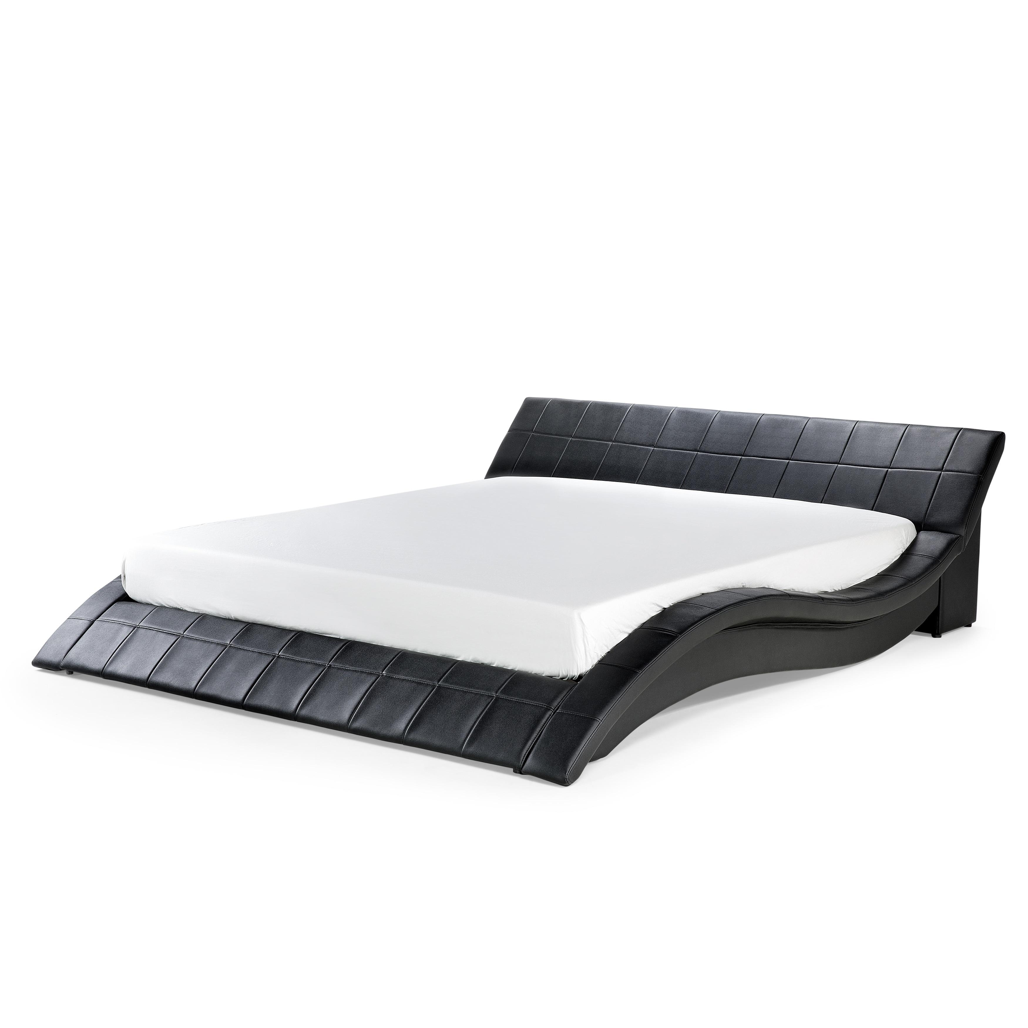 Platform Bed in Wave Design with Slatted Frame - King or Queen ...