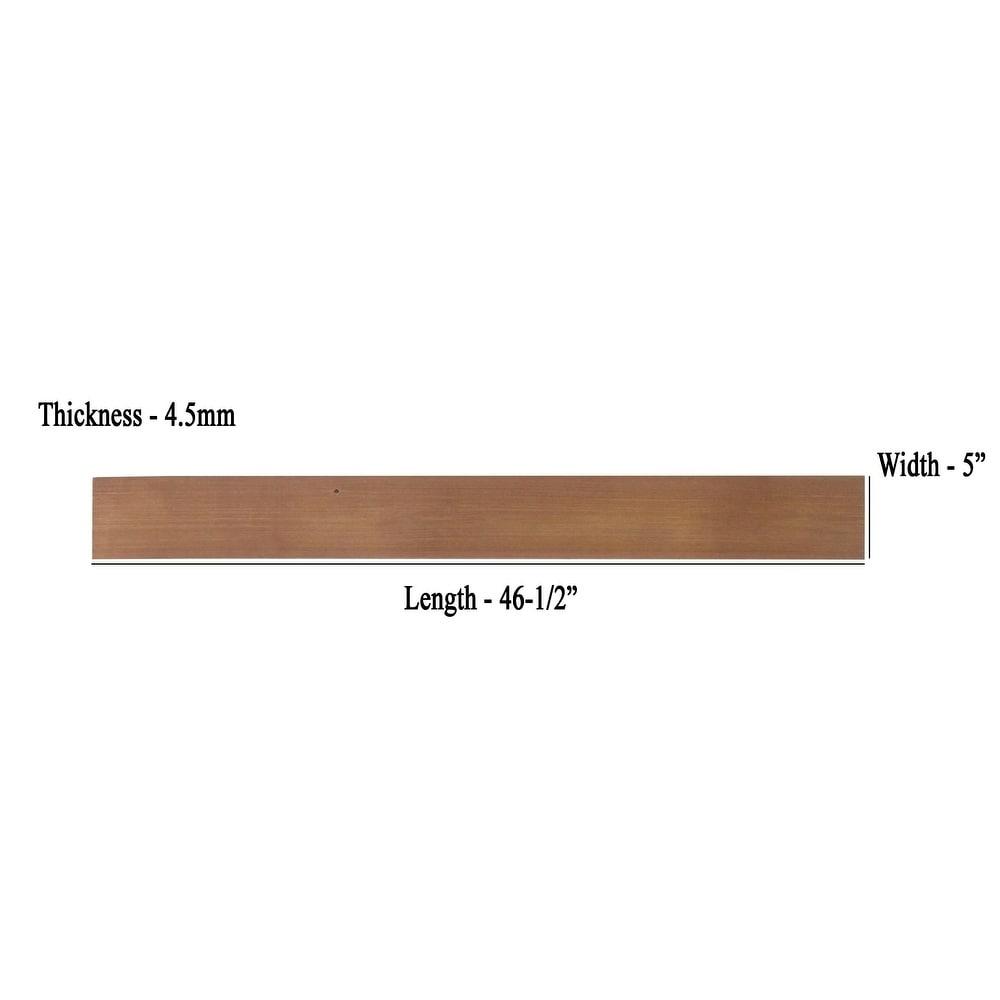 3D Reclaimed Rectangular DIY Peel and Stick Light Brown Wood Panels Plank  Decor 10 Panels / 16sqft Per Box