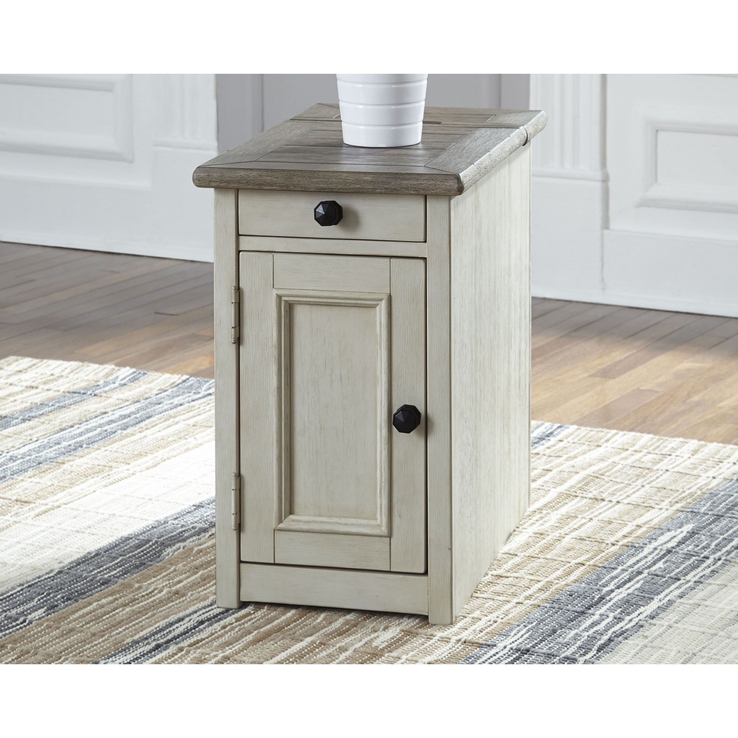 Bolanburg Chairside End Table With Usb Ports Outlets On Free Shipping Today 20966008