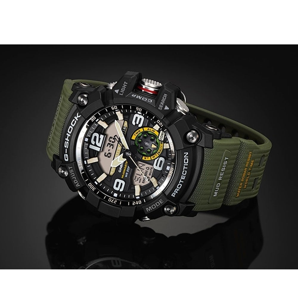 Shop Casio G Shock Master Of Mudmaster Sports Mens Watch Army Gg 1000 1a Green Ships To Canada 20966210