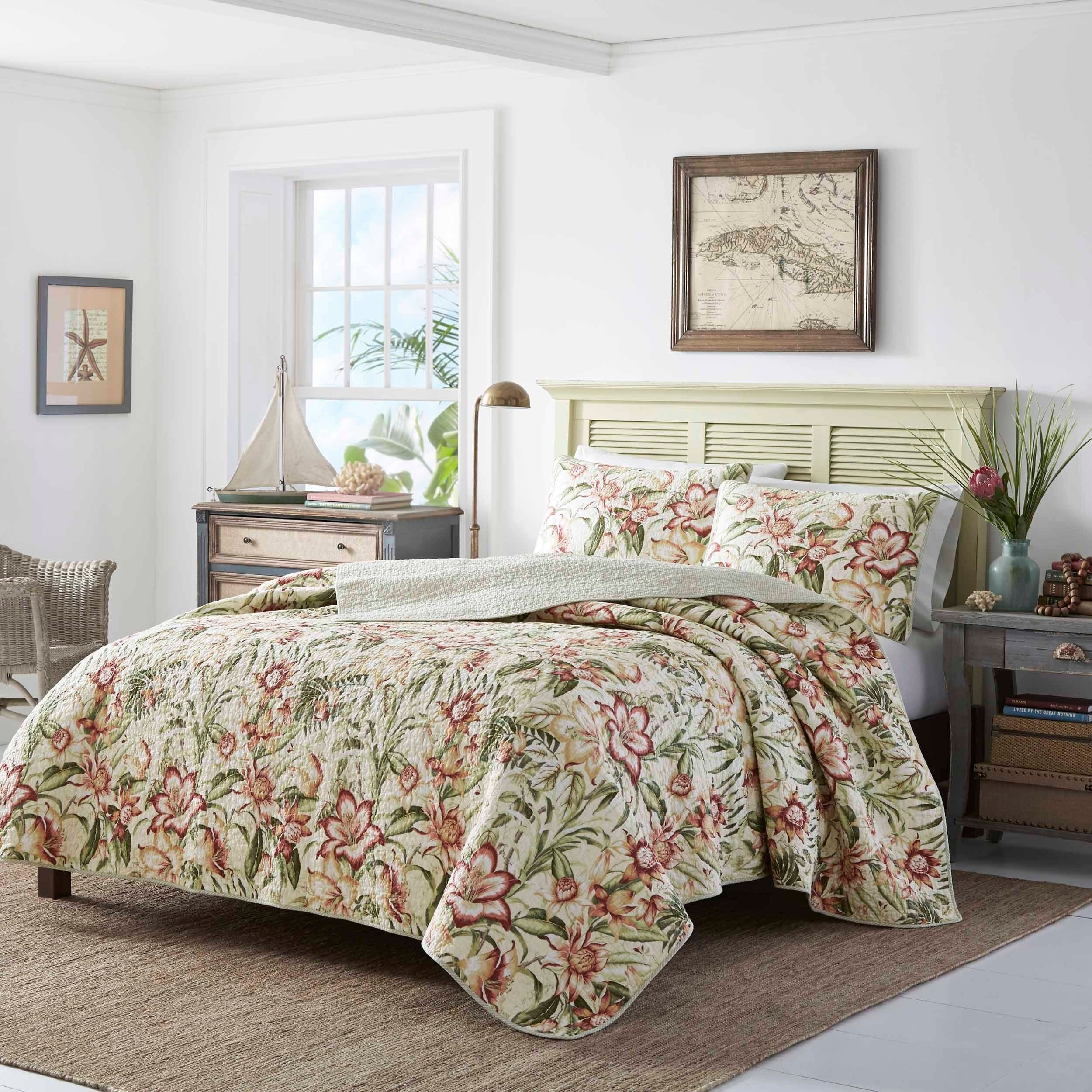Shop Tommy Bahama Tropical Lily Quilt Set - Free Shipping Today ...