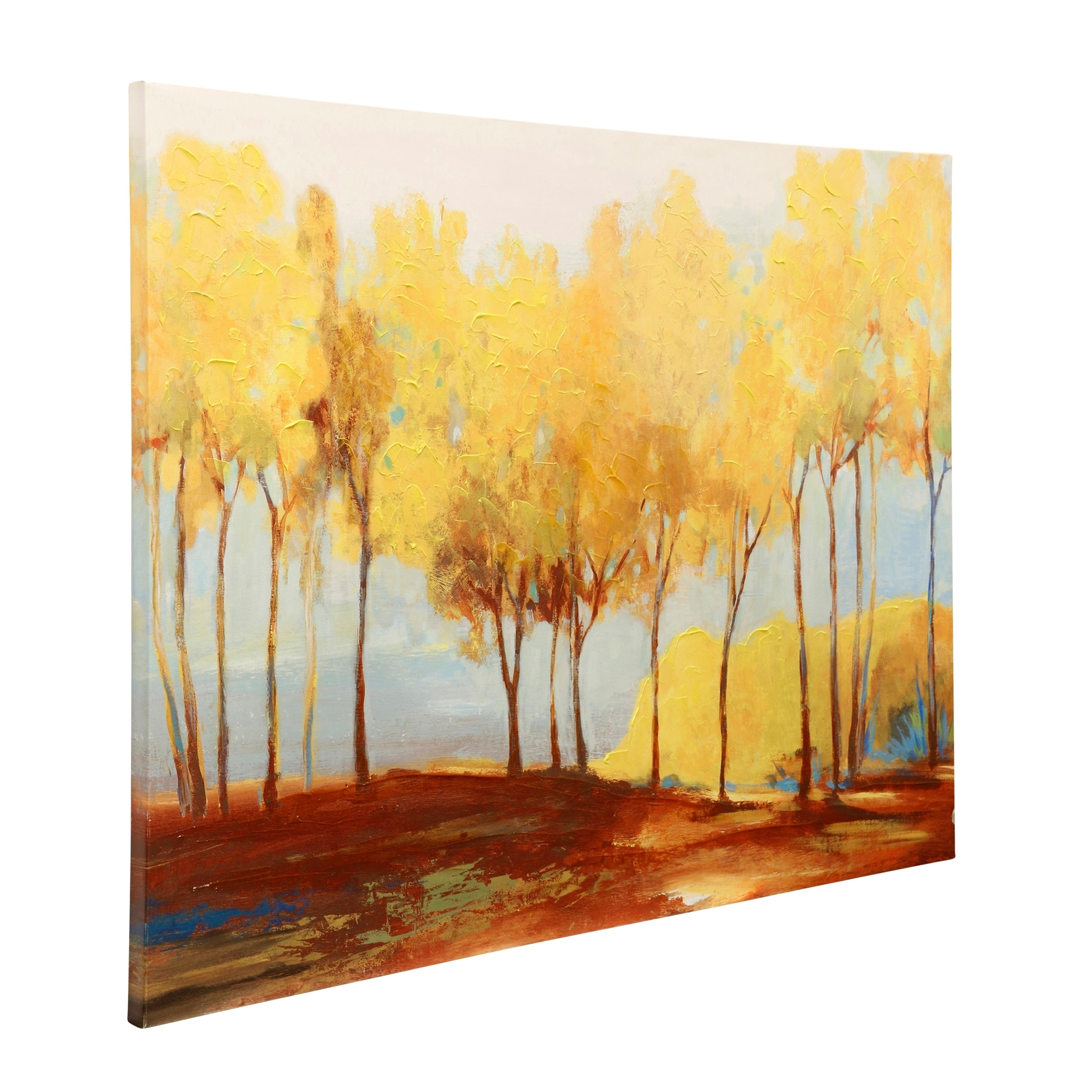 Shop Oxide Treeline Stretched Canvas Wall Art - Free Shipping Today ...
