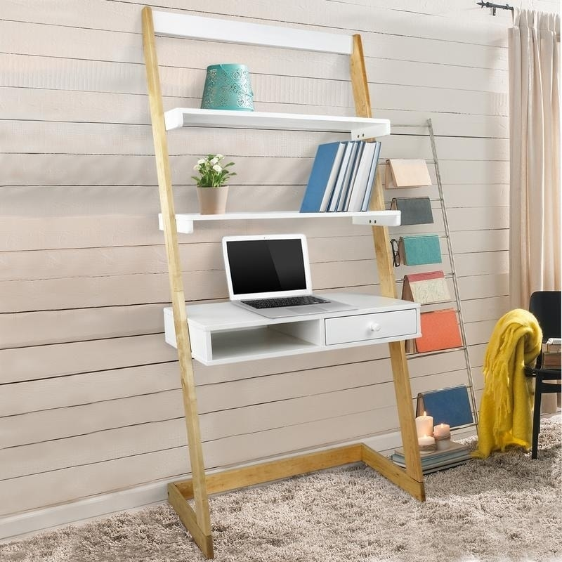 Shop Freestanding Ladder Desk with Drawer, Solid American Maple ...