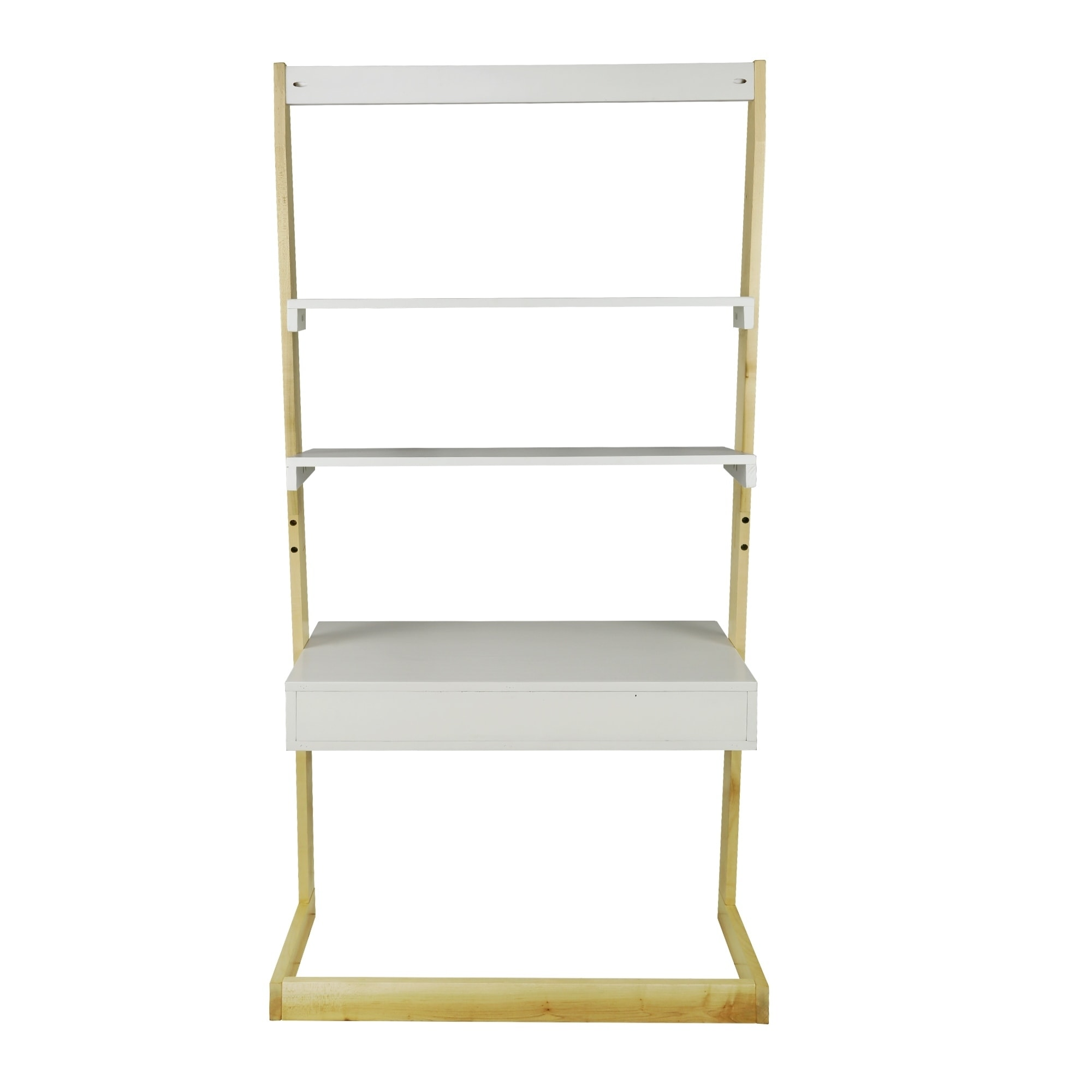 shop freestanding ladder desk with drawer solid american maple