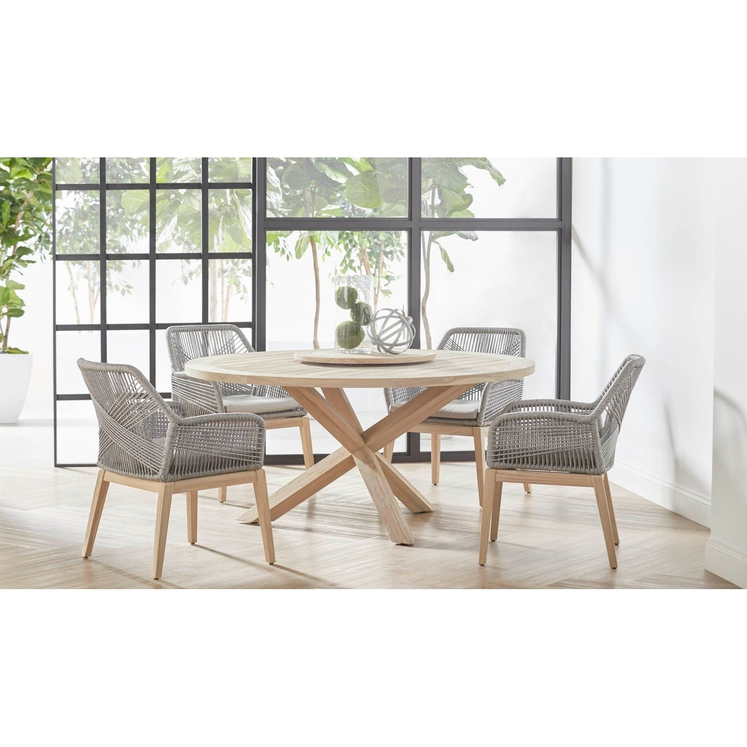 Curtis Platinum Rope Arm Chair (Set of 2) - Free Shipping Today ...