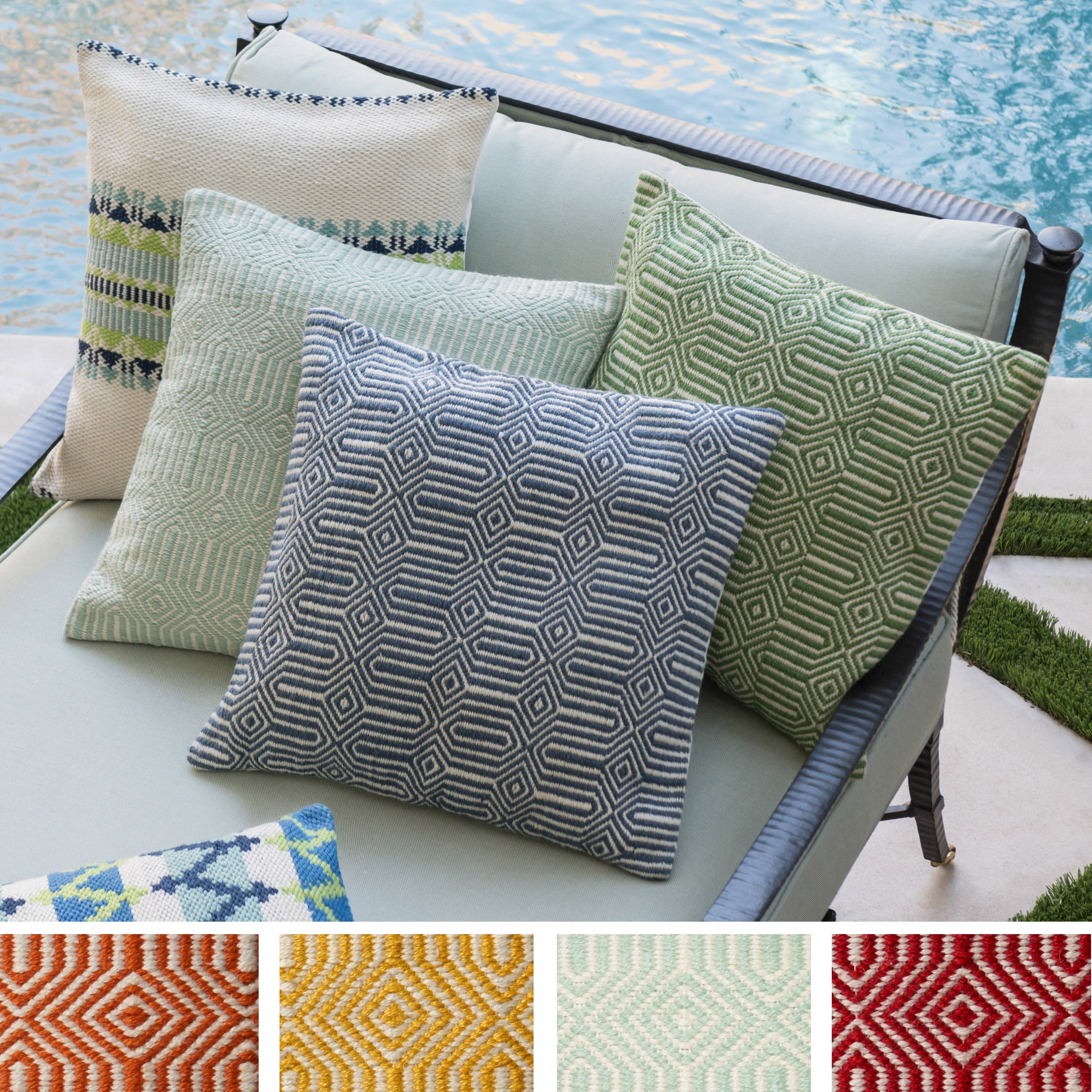 Indoor Outdoor Geometric Contemporary 22 Inch Throw Pillow Or Cover On Free Shipping Today 20969666