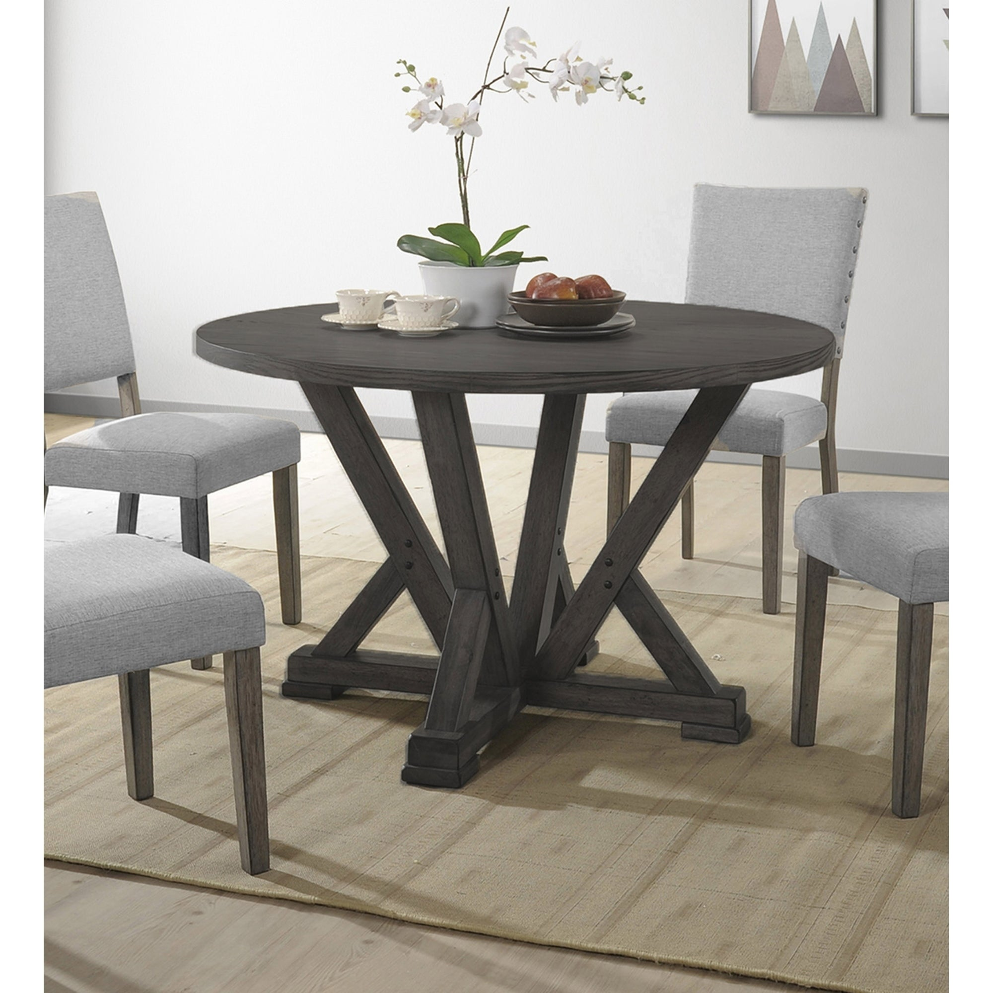 Shop Best Master Furniture Antique Grey Round Dining Table - Free Shipping Today - Overstock - 20970365 & Shop Best Master Furniture Antique Grey Round Dining Table - Free ...