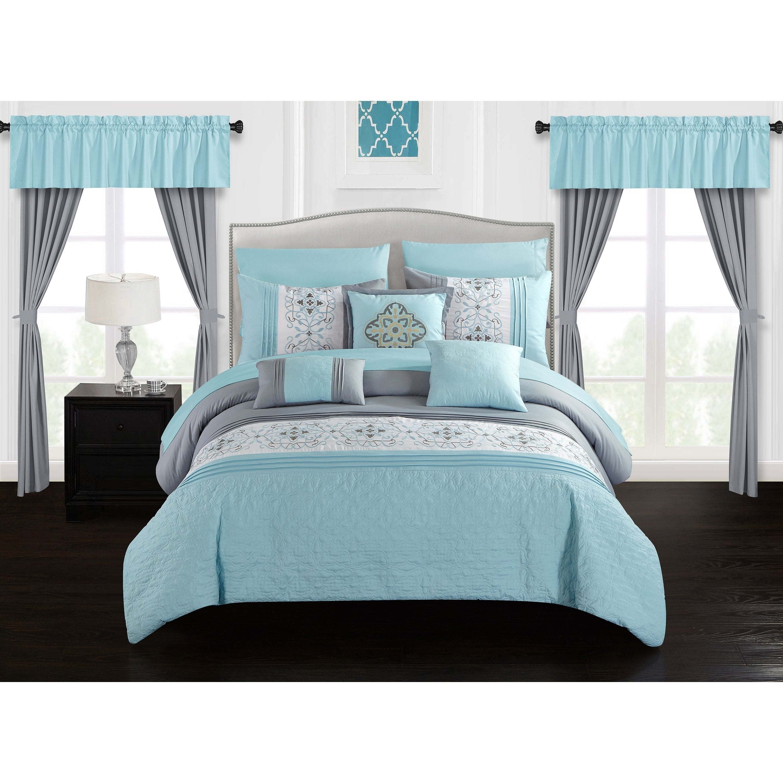 fascinating ivory color teal lodge sets king comforter ecrins set