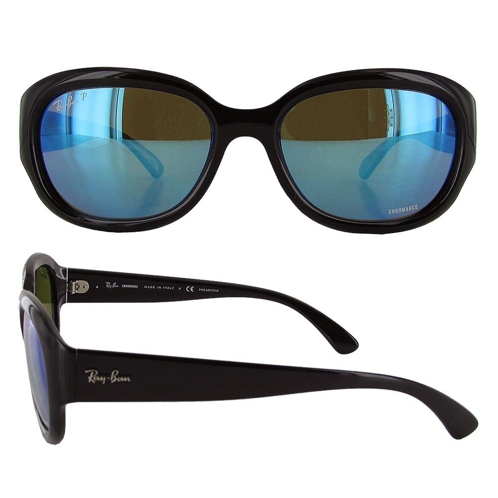 a58e2f69f76 ... netherlands shop ray ban womens rb4282 chromance rectangular sunglasses  black blue mirror ships to canada overstock ...