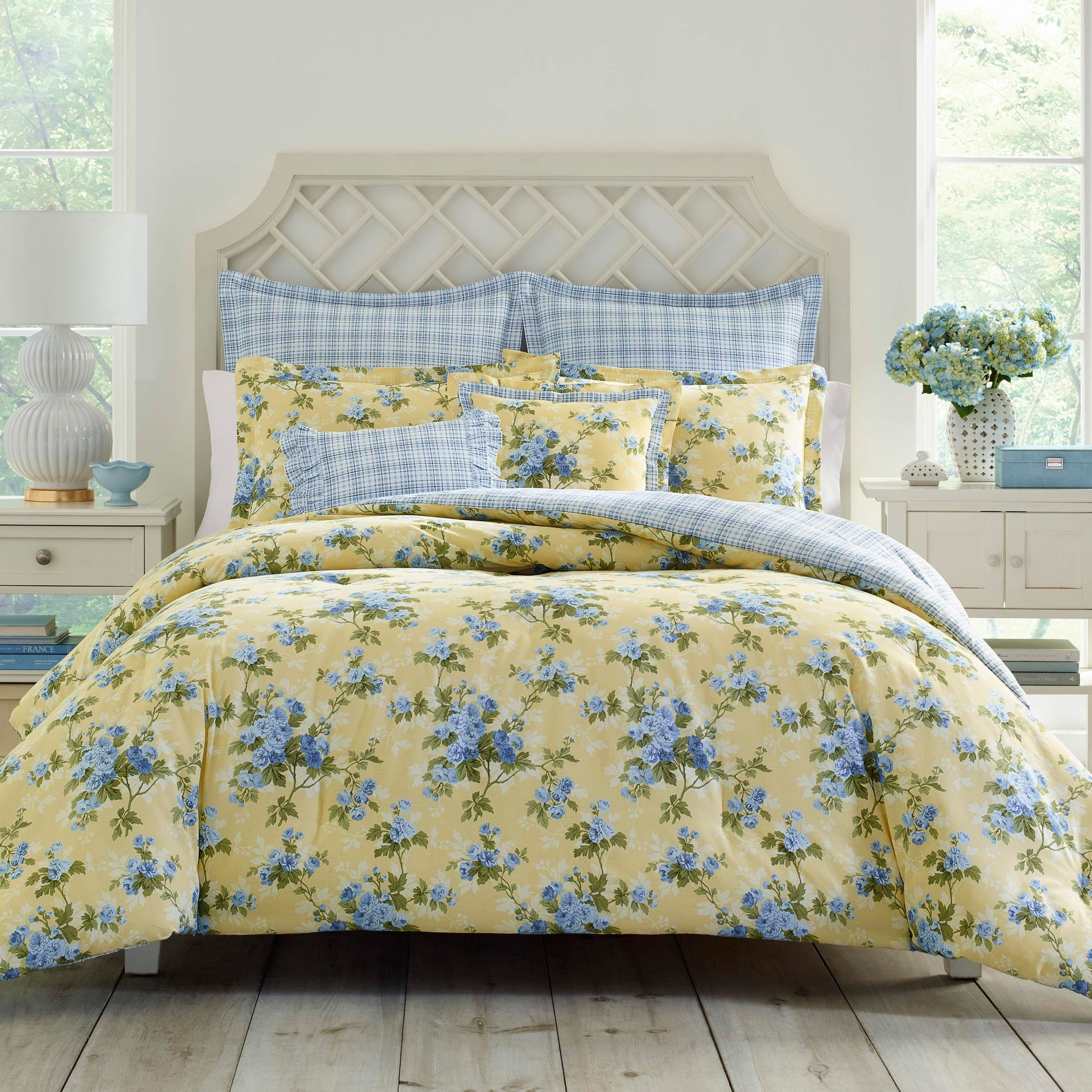 Shop Laura Ashley Cassidy Comforter Set On Sale Free Shipping Inside Flats Jeraldine Navy 40 Today 20978517