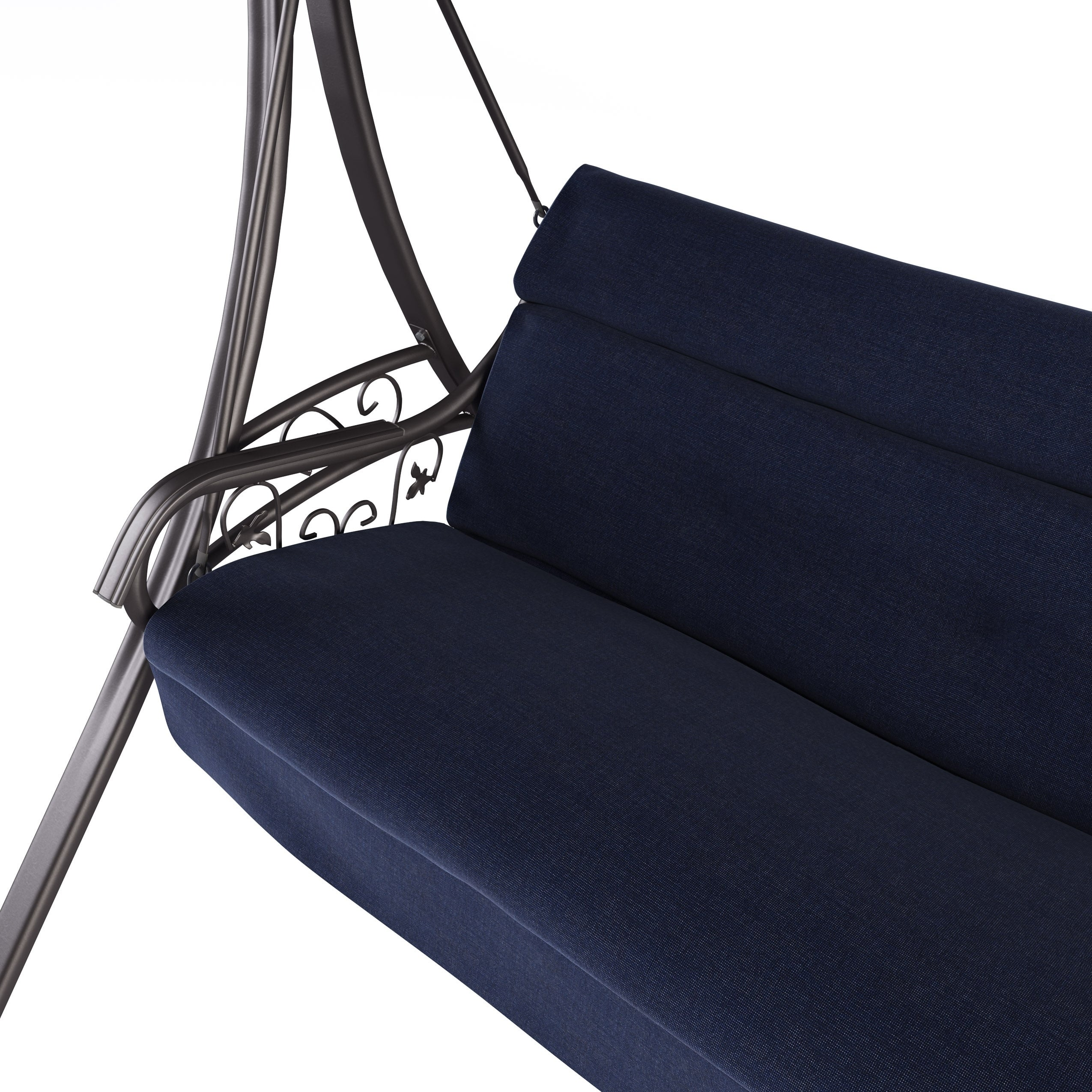 Shop Corliving Nantucket Patio Swing With Arched Canopy Free