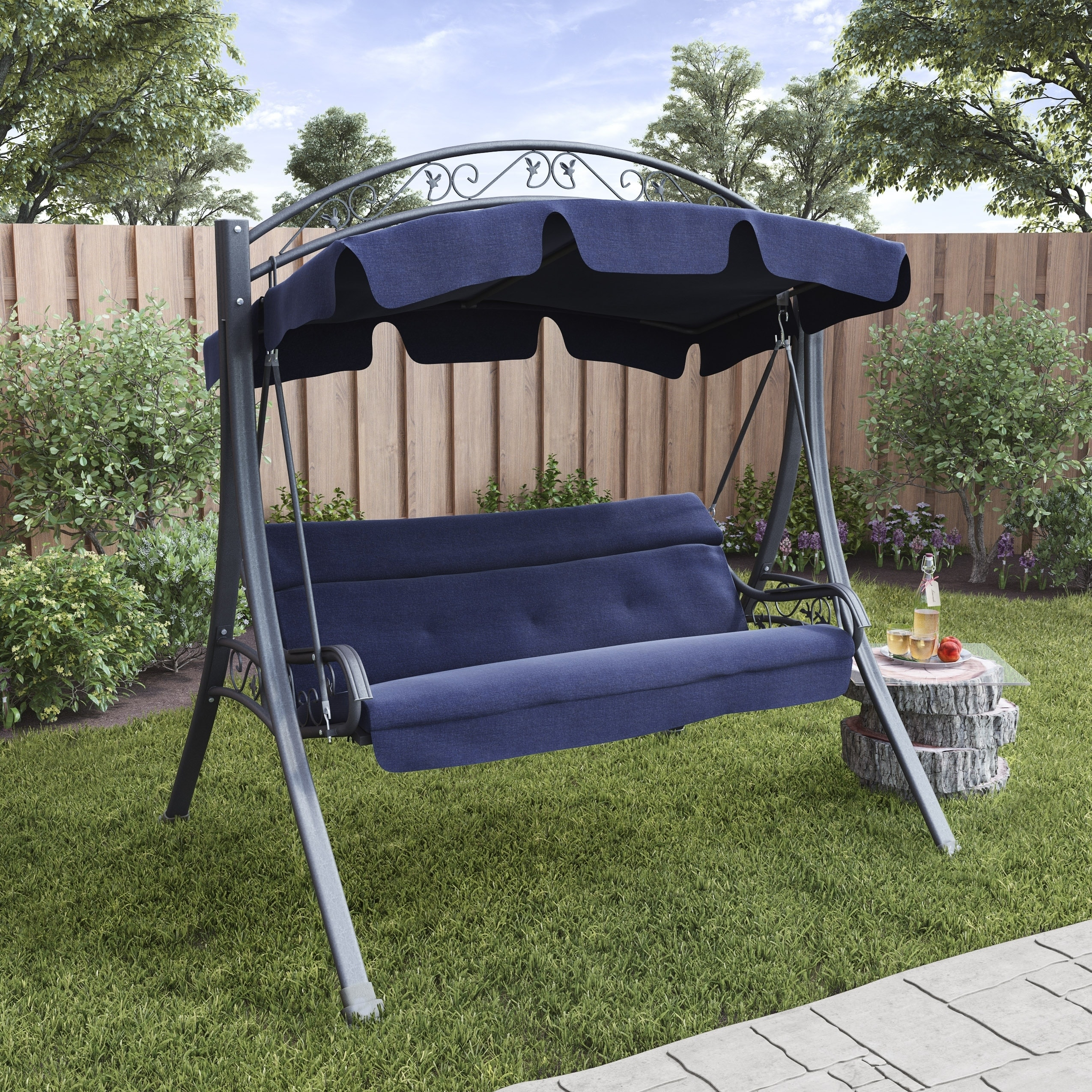 outdoor patio with in clay hampton depot swing bay from and canyon covers cushion pin canopy cover style tresco home sydney sonoma replacement palm gazebo