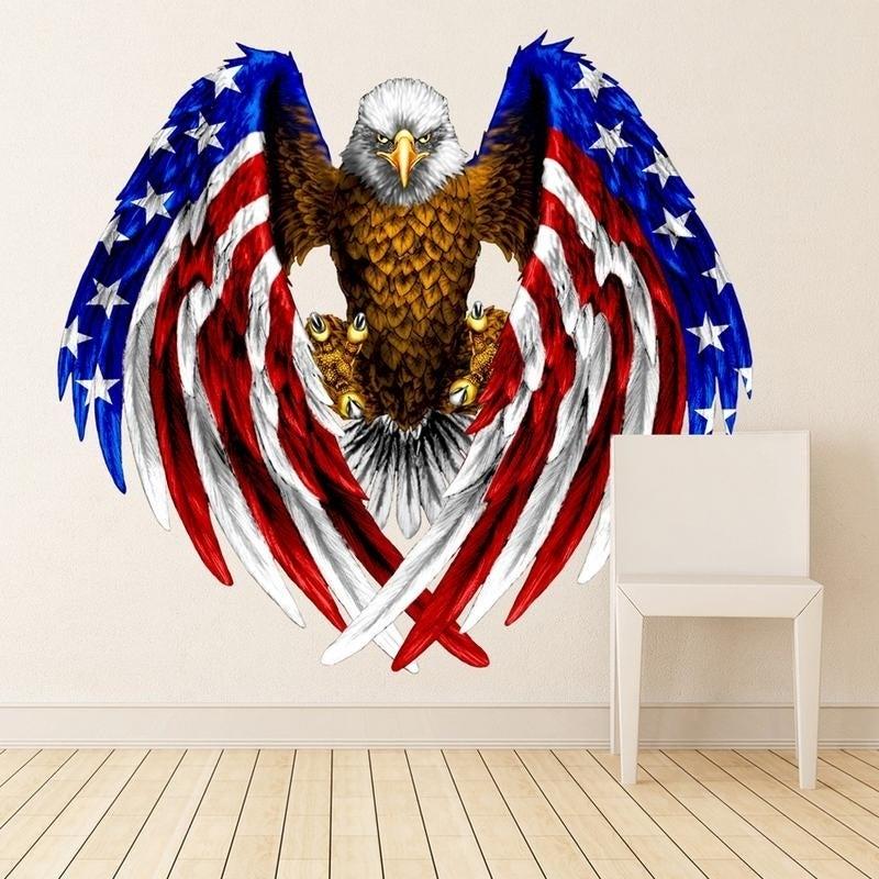Shop Eagle Usa Symbol Flag Full Color Wall Decal Sticker K 761 Frst