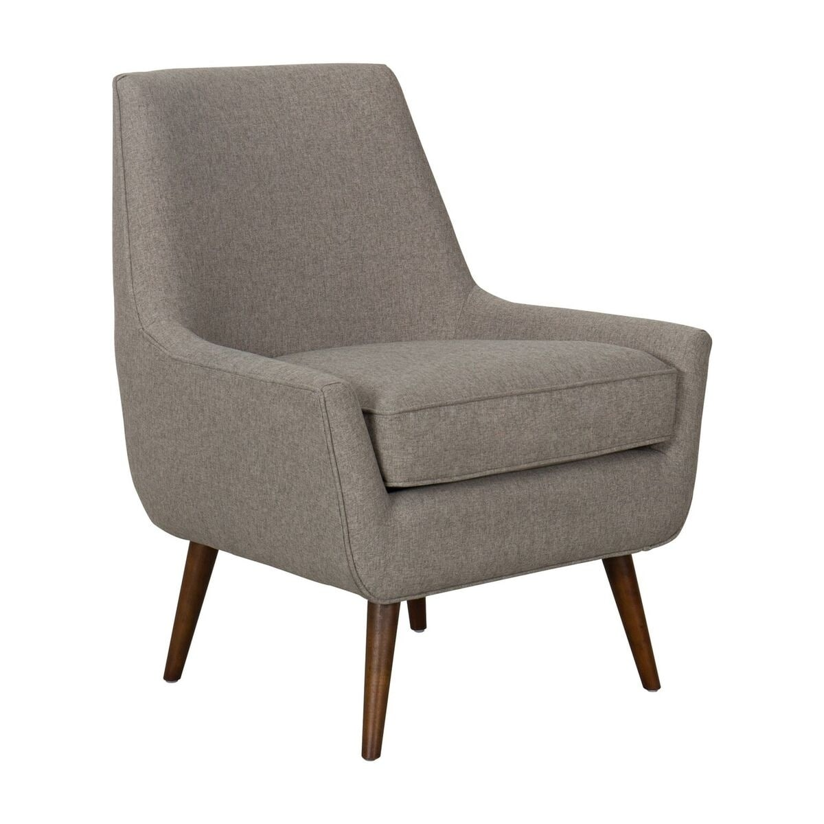 Shop homepop dean modern accent chair with ottoman light brown on sale free shipping today overstock com 20980505