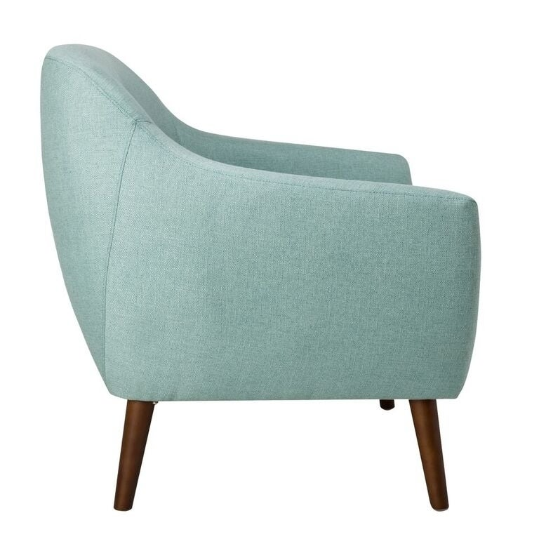 Shop Homepop Monroe Modern Tufted Accent Chair   Aqua   Free Shipping Today    Overstock.com   20980507