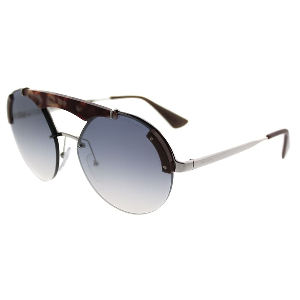66ffd0eb09dc Shop Prada Round PR 52US Prada Ornate C135R0 Women Silver Pink Havana Brown  Frame Silver Mirror Lens Sunglasses - Free Shipping Today - Overstock -  20984821