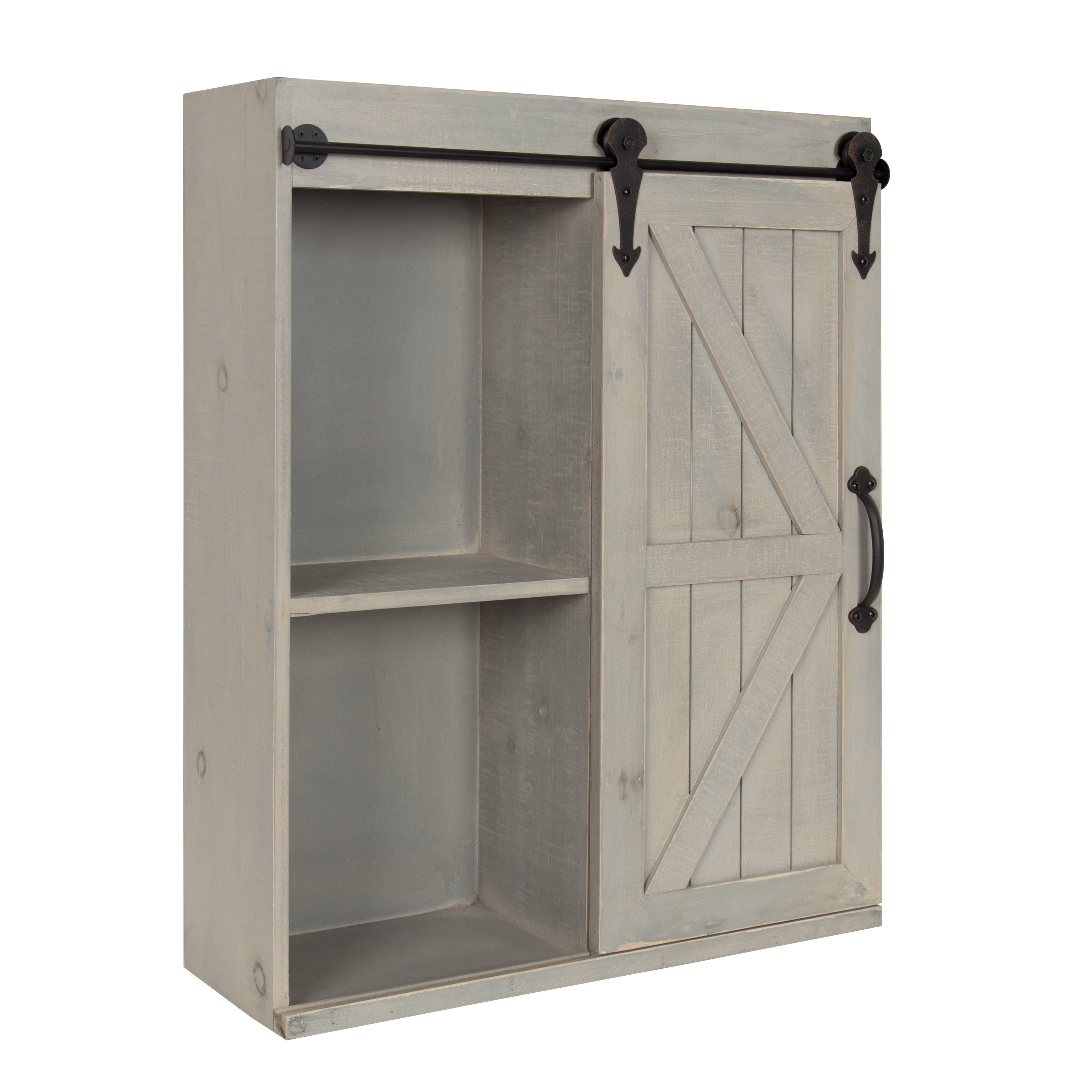 Shop Kate And Laurel Cates Wood Wall Storage Cabinet With Sliding