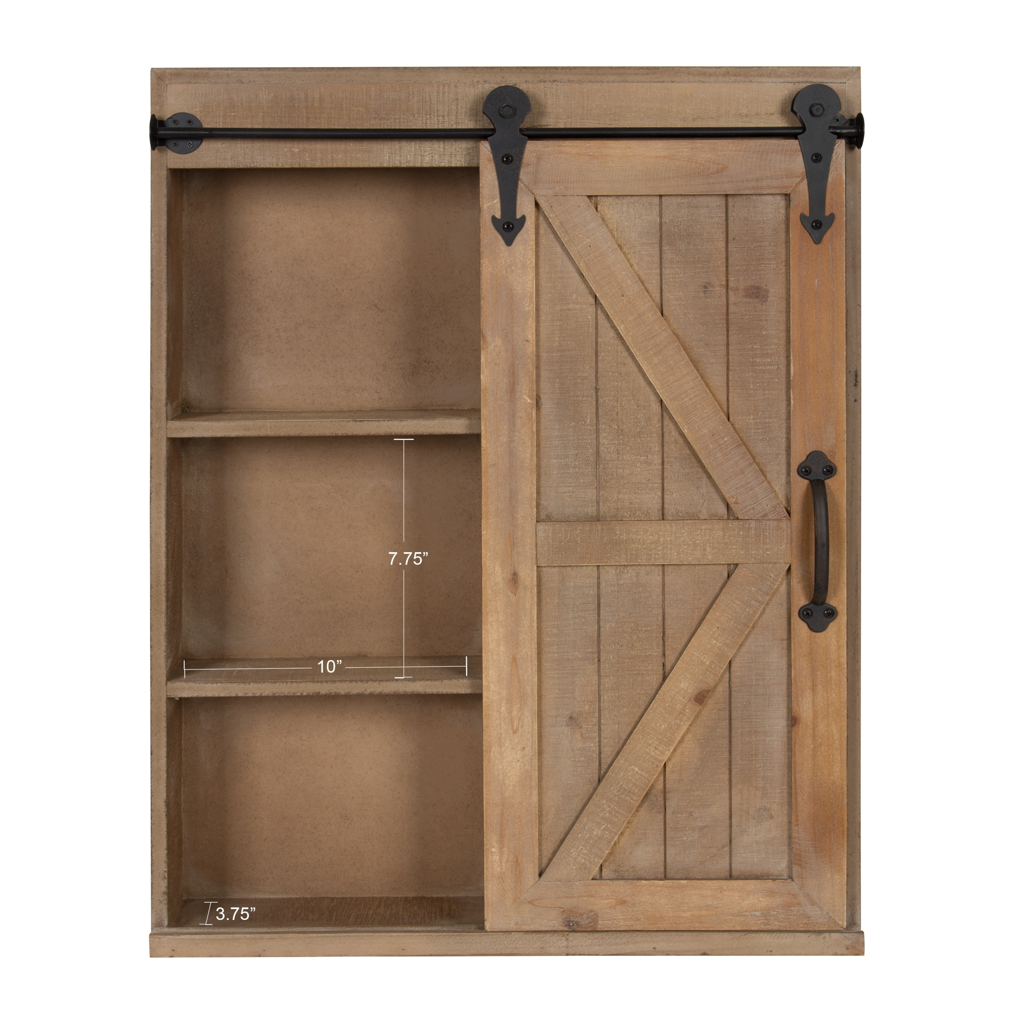 Cates Wood Wall Storage Cabinet With Vanity And Sliding Barn Door Free Shipping Today 26782135