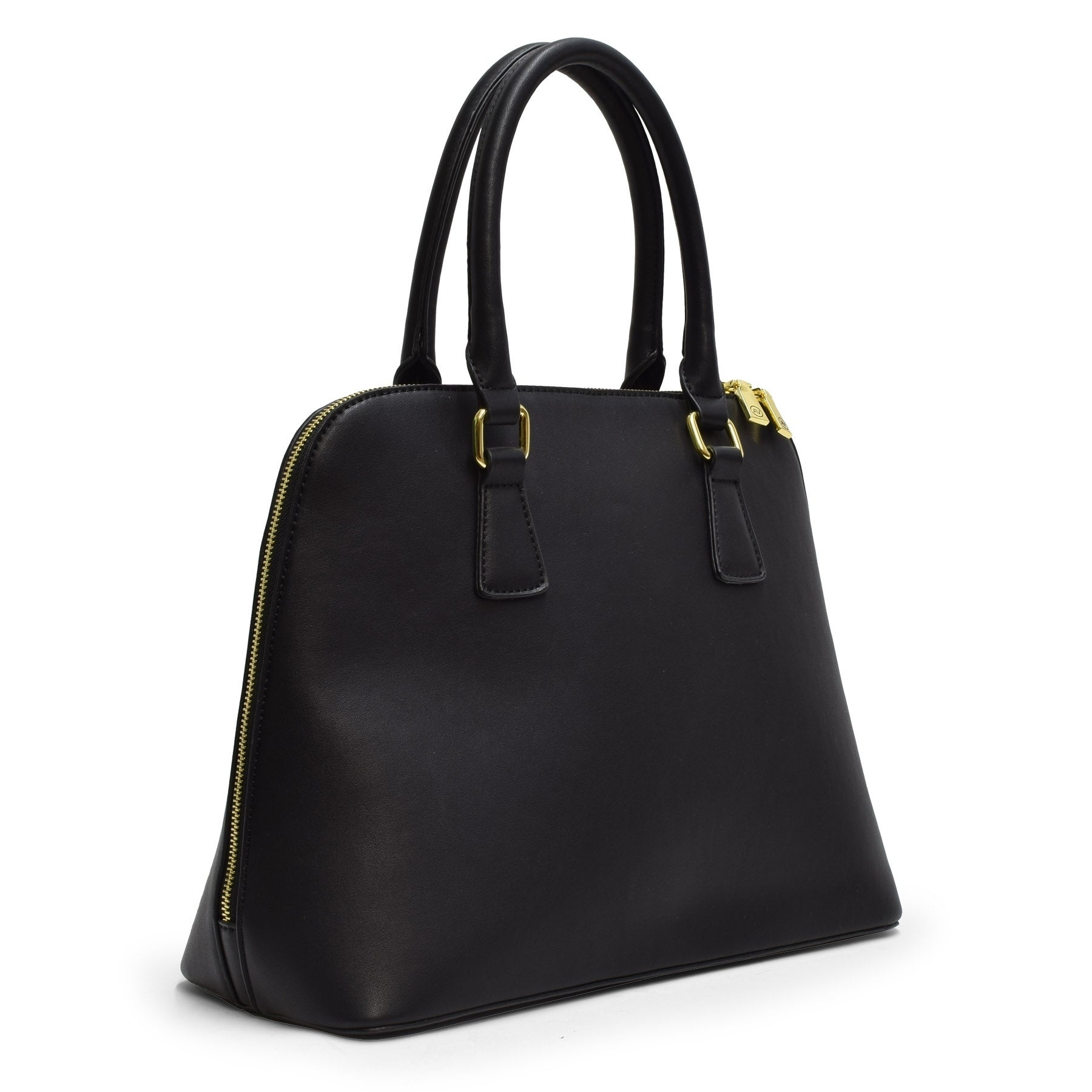 4c75dec3f4 Shop Adrienne Vittadini Classic Smooth Dome Satchel-Black - On Sale - Free  Shipping Today - Overstock - 20987549