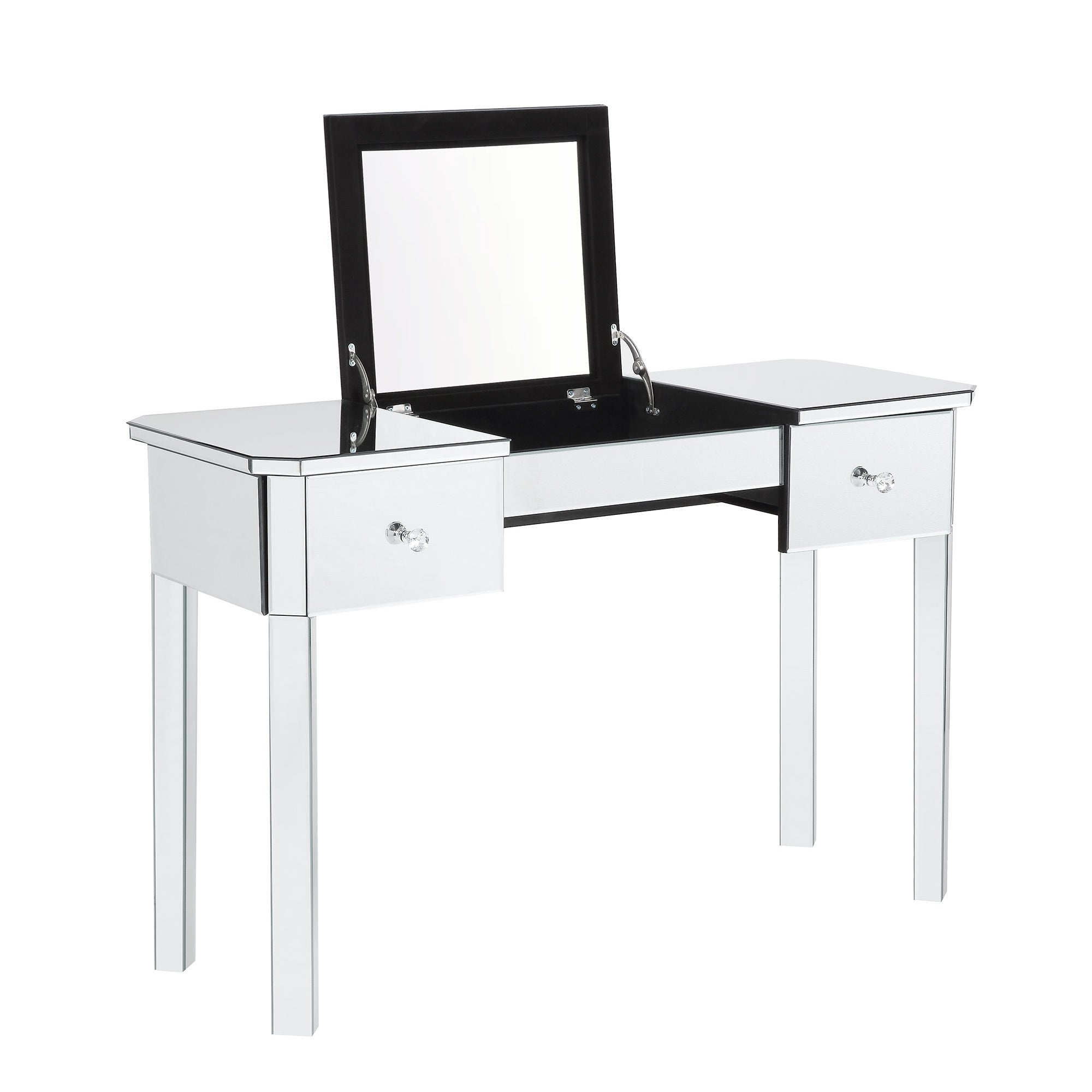 Inspired Home Addison Mirrored Makeup Vanity Table With 2 Drawers On Free Shipping Today 20987746