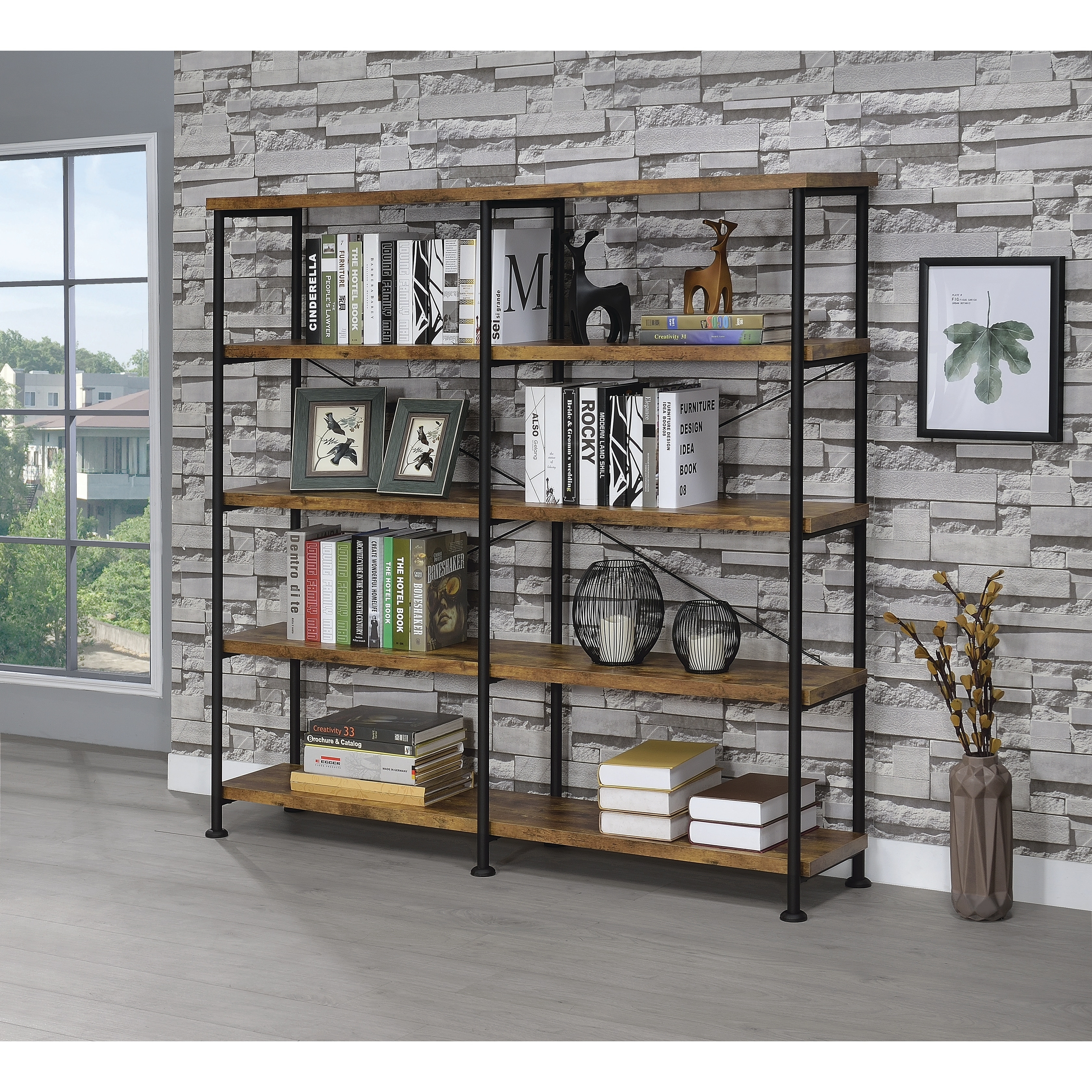 midas bookcase double concepts wide cherry with glass bottomide bookshelves bookcases shelf wood ikea in picture doors
