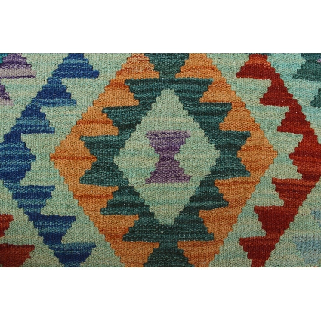 Sangat Kilim Archie Rust Green Rug 3 4 X 5 0 Free Shipping Today Com 26785729