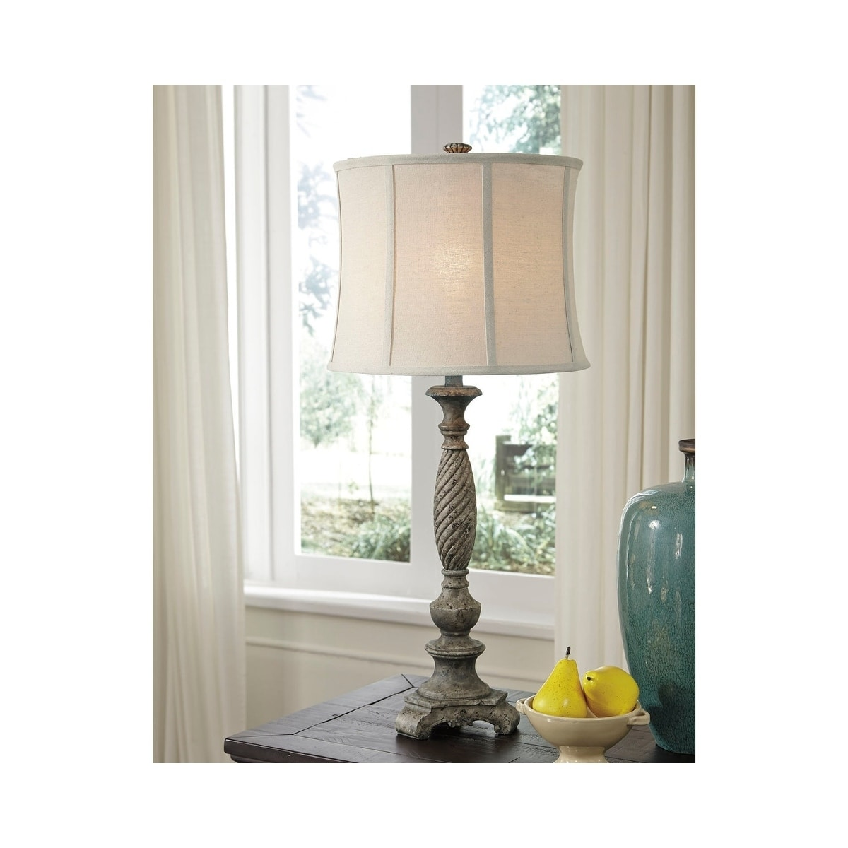 Shop alinae antique gray 35 inch table lamp on sale free shipping today overstock 21011274
