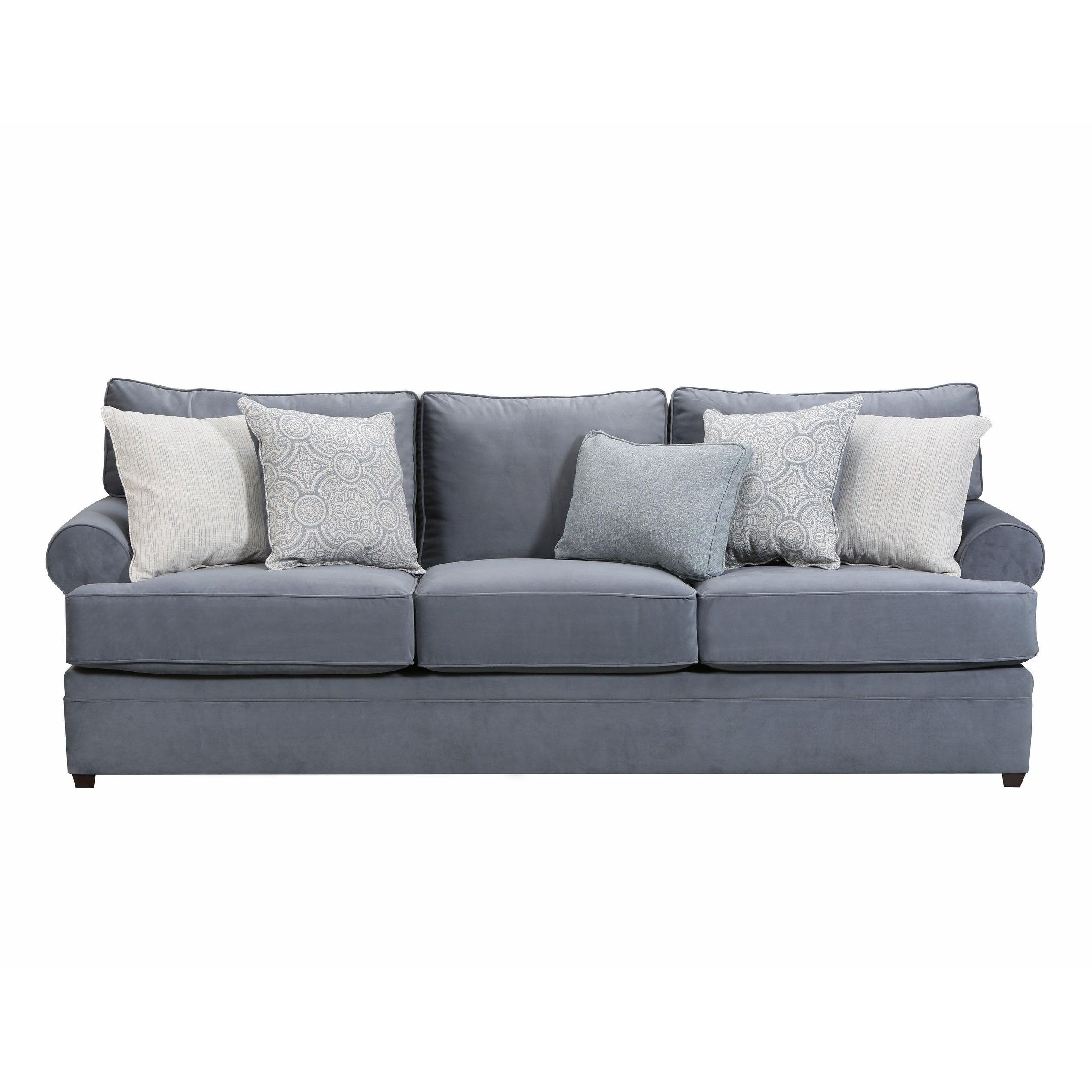 Simmons Upholstery Abington Light Blue Sofa Free Shipping Today 21011703