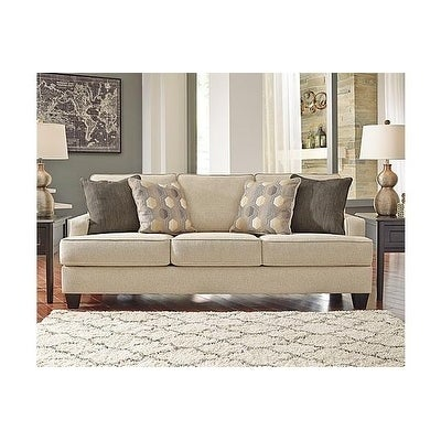Benchcraft Brielyn Contemporary Linen Queen Sofa Sleeper Free Shipping Today 21012443