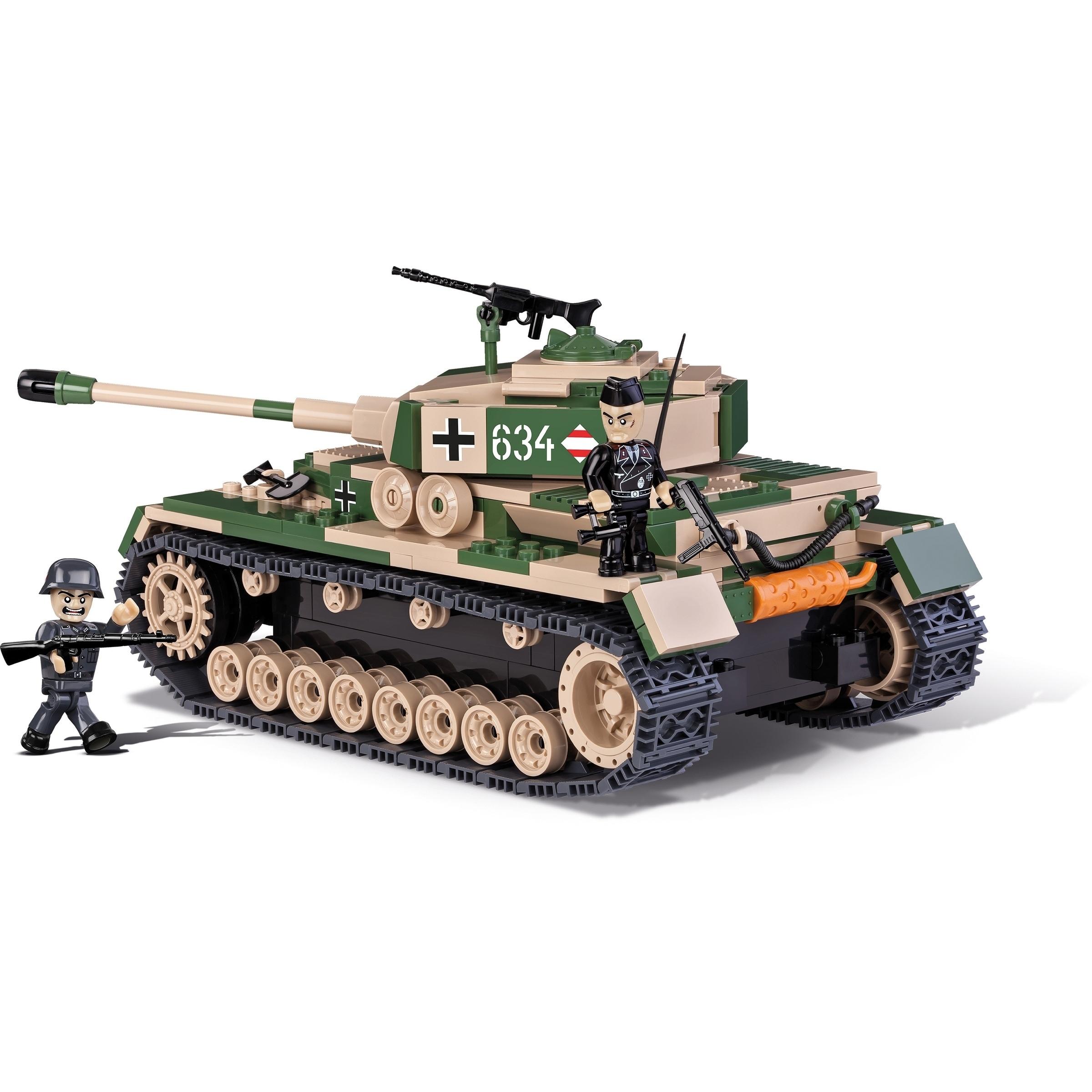 COBI Small Army World War II Panzer IV Ausf  F1/G/H 500 Tank Piece  Construction Blocks Building Kit
