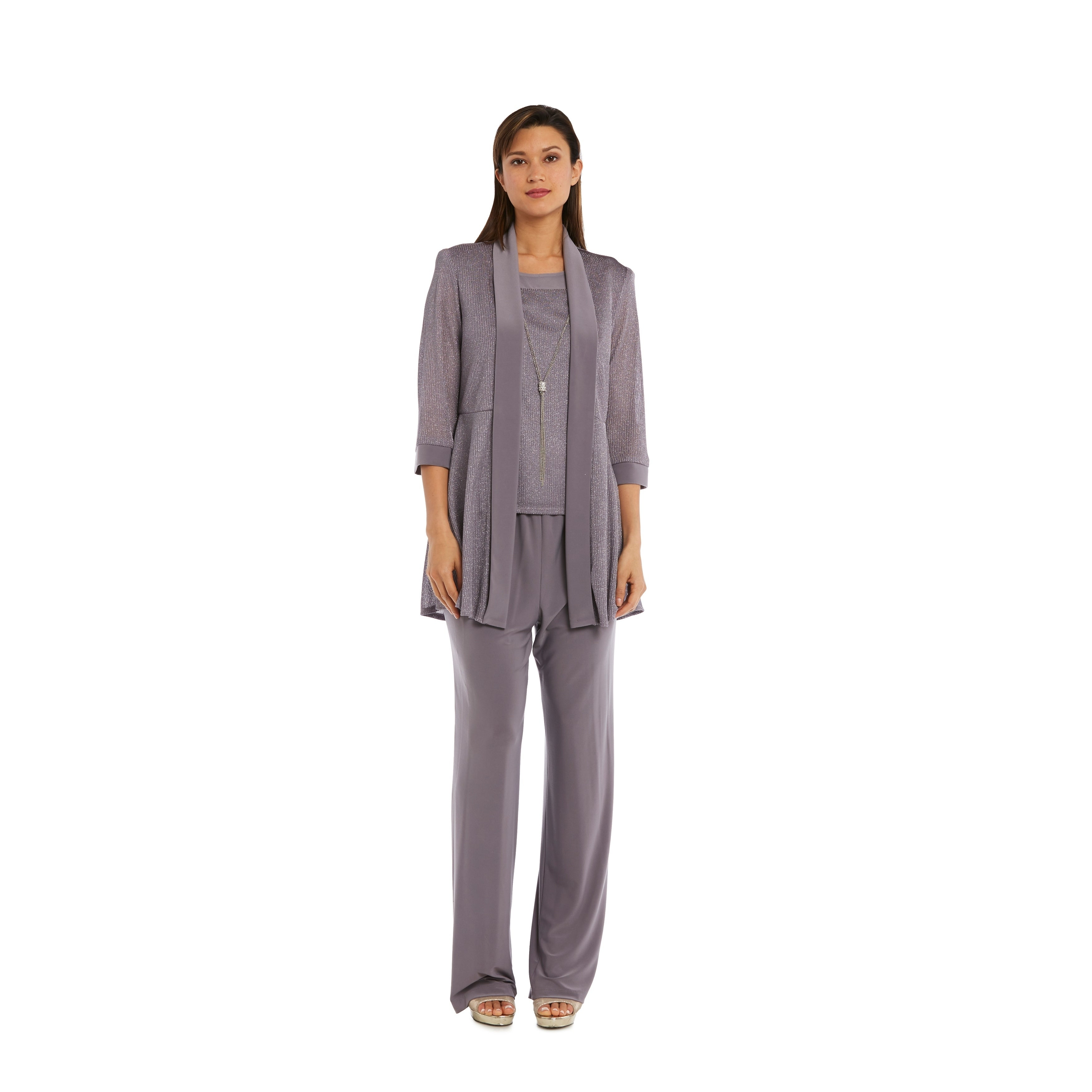 0b5f6711902 Shop R M Richards 1782 Silver Pant Set - On Sale - Free Shipping Today -  Overstock - 21013554