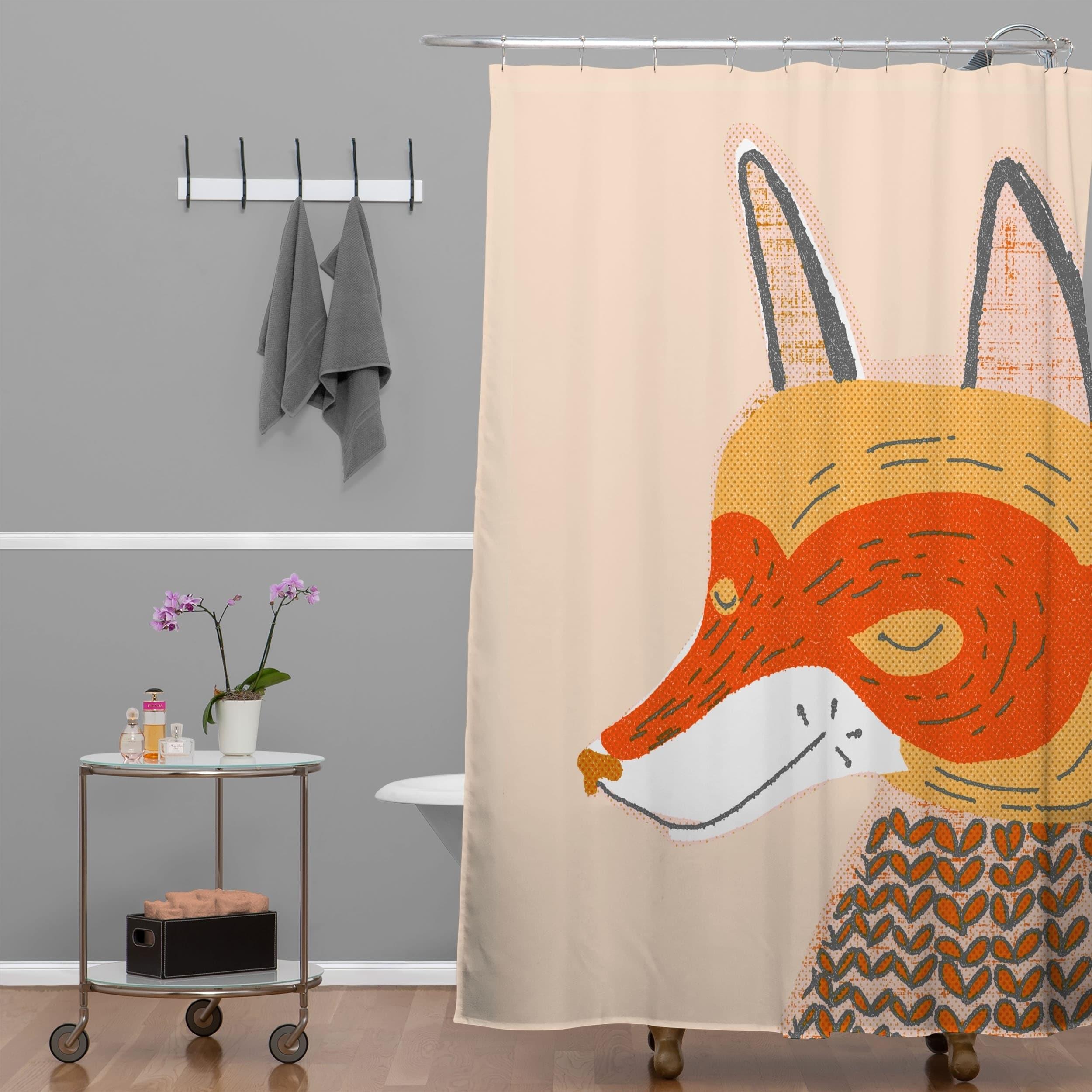 Shop Mummysam Mr Fox Shower Curtain