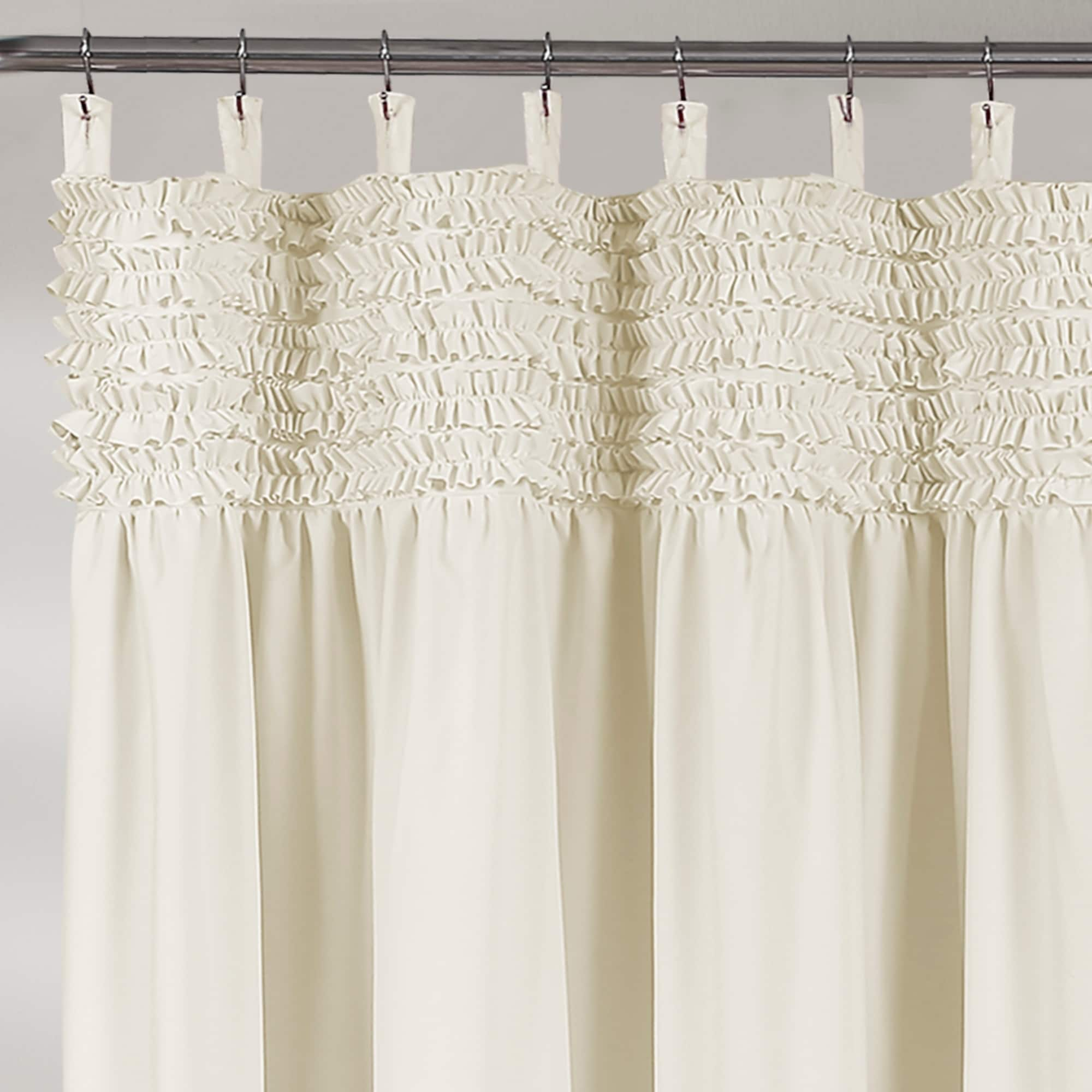 Lush Decor Lydia Ruffle Shower Curtain On Free Shipping Orders Over 45 21014550