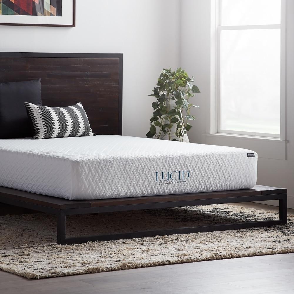 Lucid Comfort Collection 10 Inch Gel Memory Foam Mattress On Sale Overstock 21015350