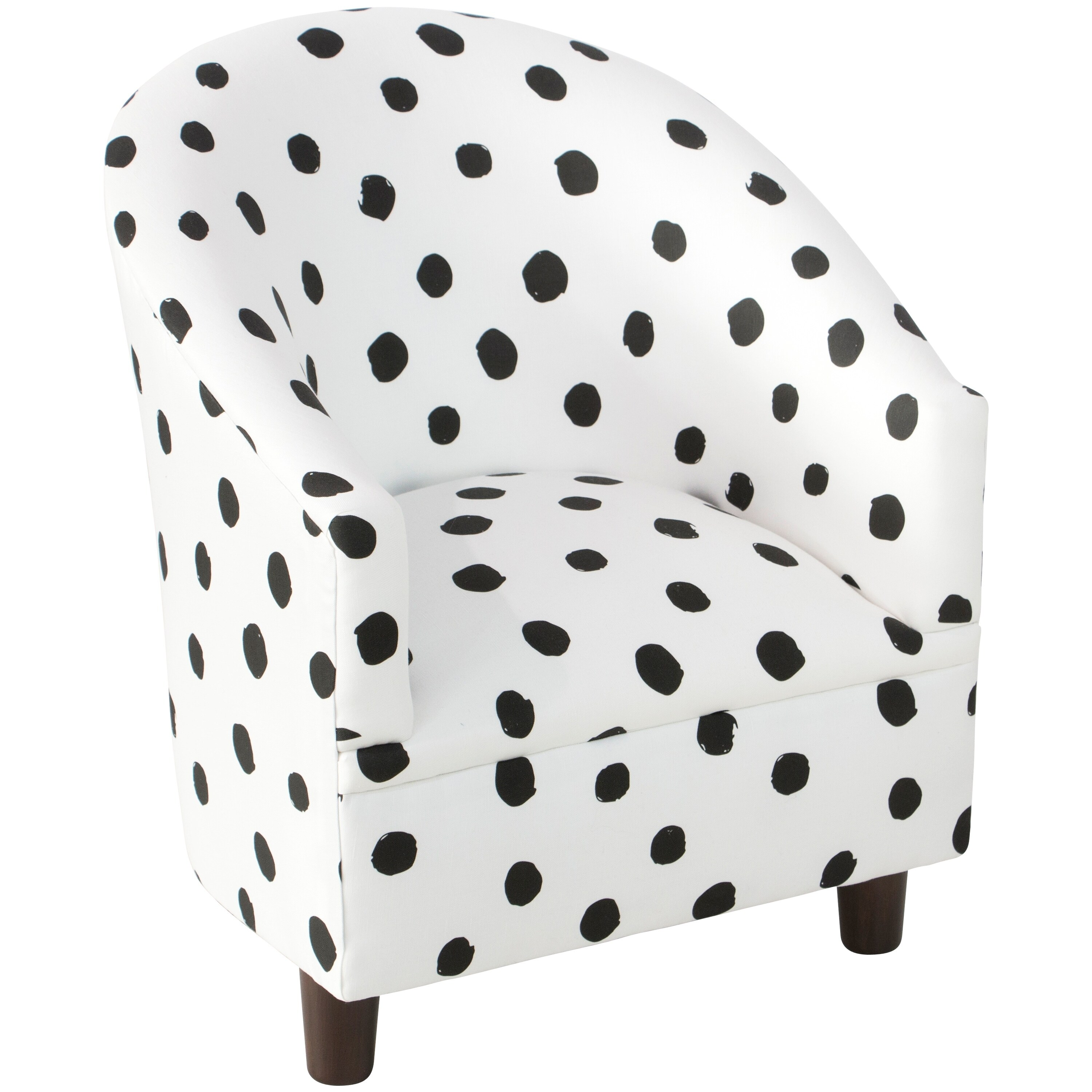 Shop Skyline Furniture Kid\'s Tub Chair in Painted Dot Black White ...