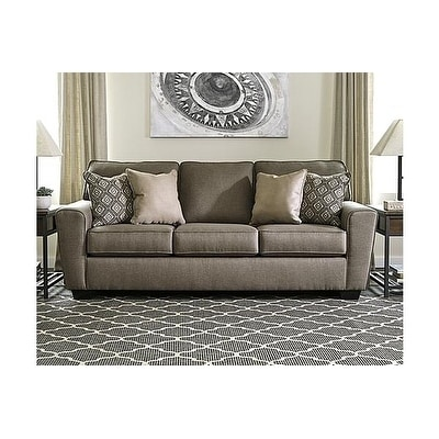Shop Benchmark By Ashely Benchcraft Calicho Brown Cashmere Queen Contemporary  Sofa Sleeper   Free Shipping Today   Overstock.com   21022395