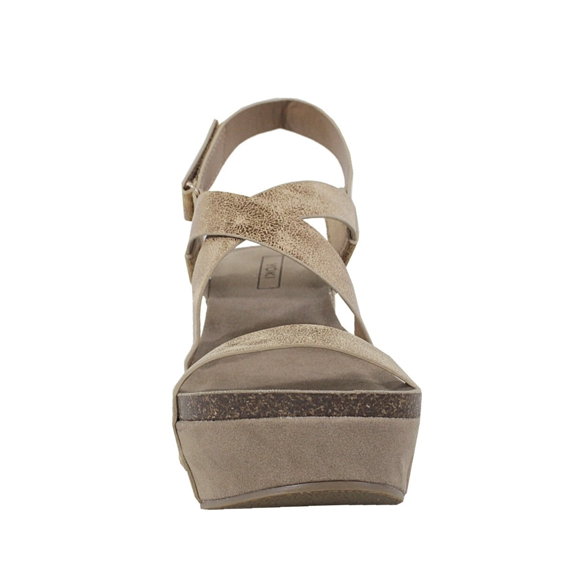 eadbccc0ab74 Shop YOKI-HESTRY-32 women s crisscross strap footbed wedge - Free Shipping  On Orders Over  45 - Overstock - 21022897