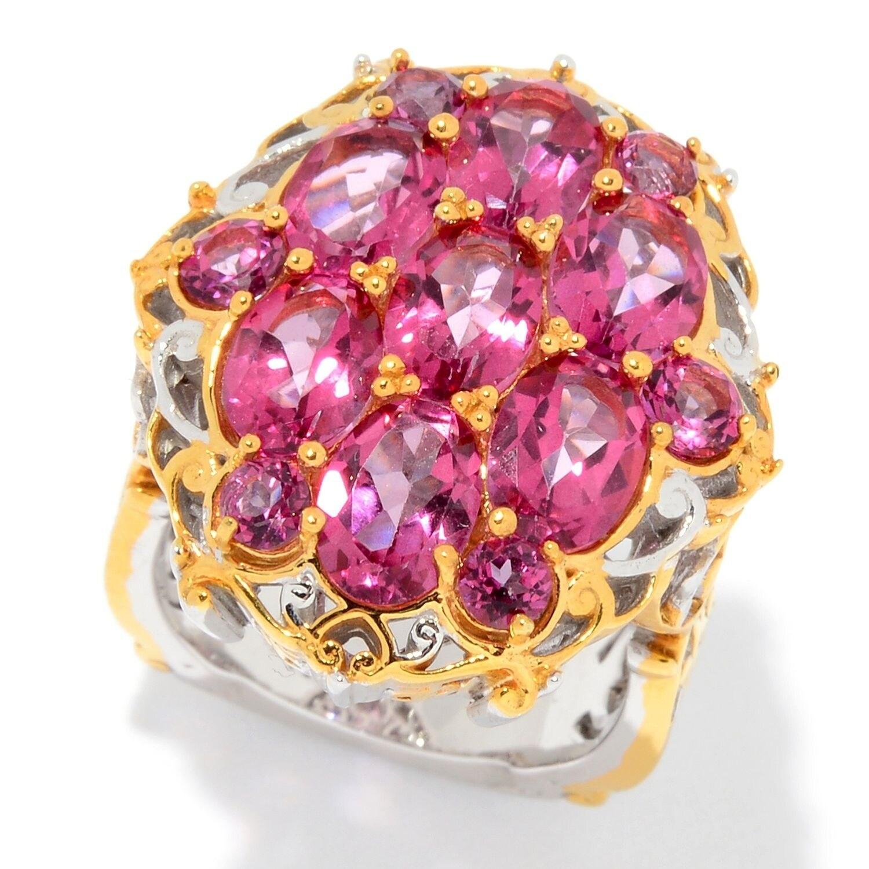 Michael Valitutti Palladium Silver Martha Rocha Color Topaz Cluster ...